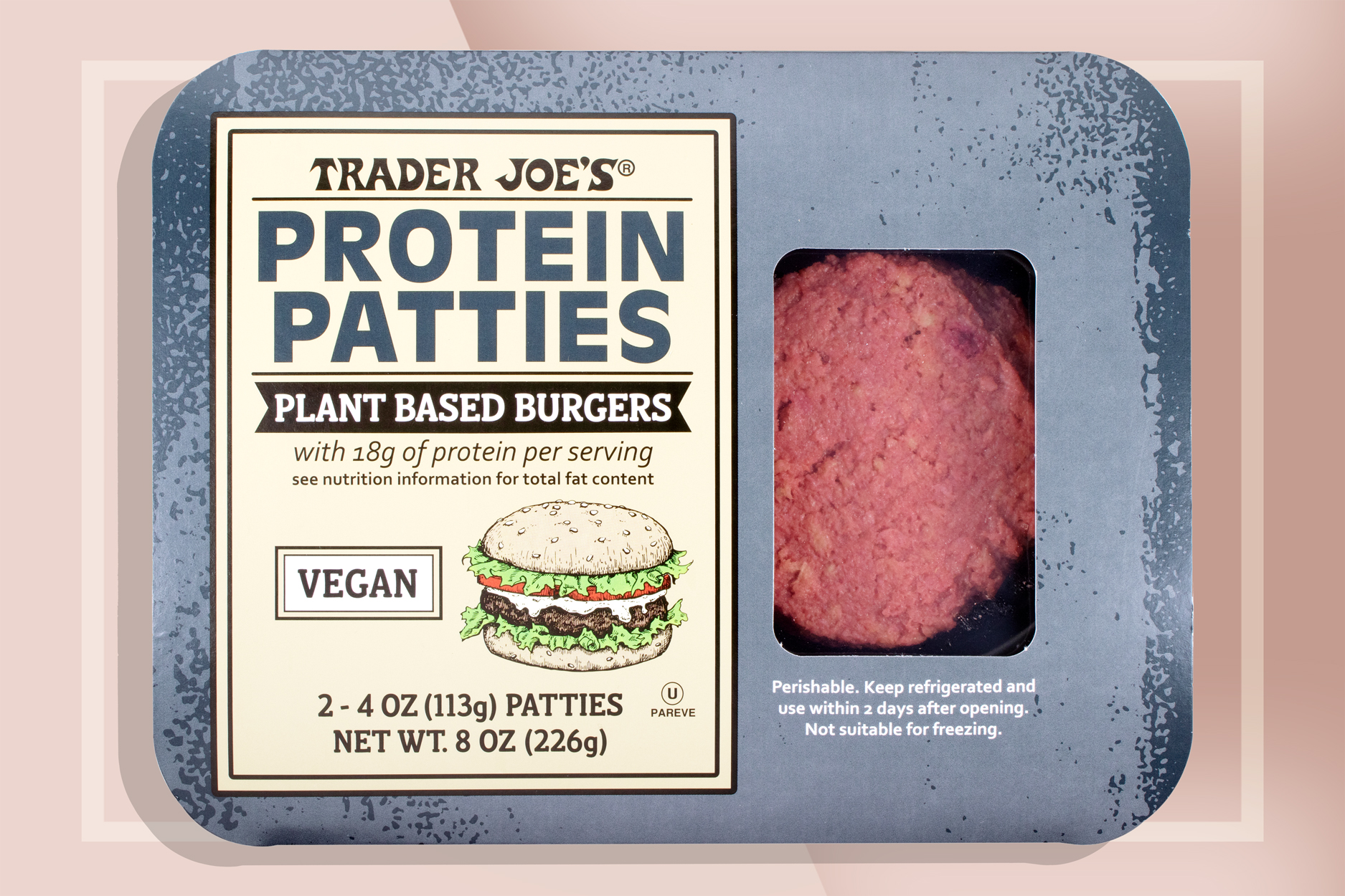 Trader Joe's Protein Protein Patties Plant-Based Burgers