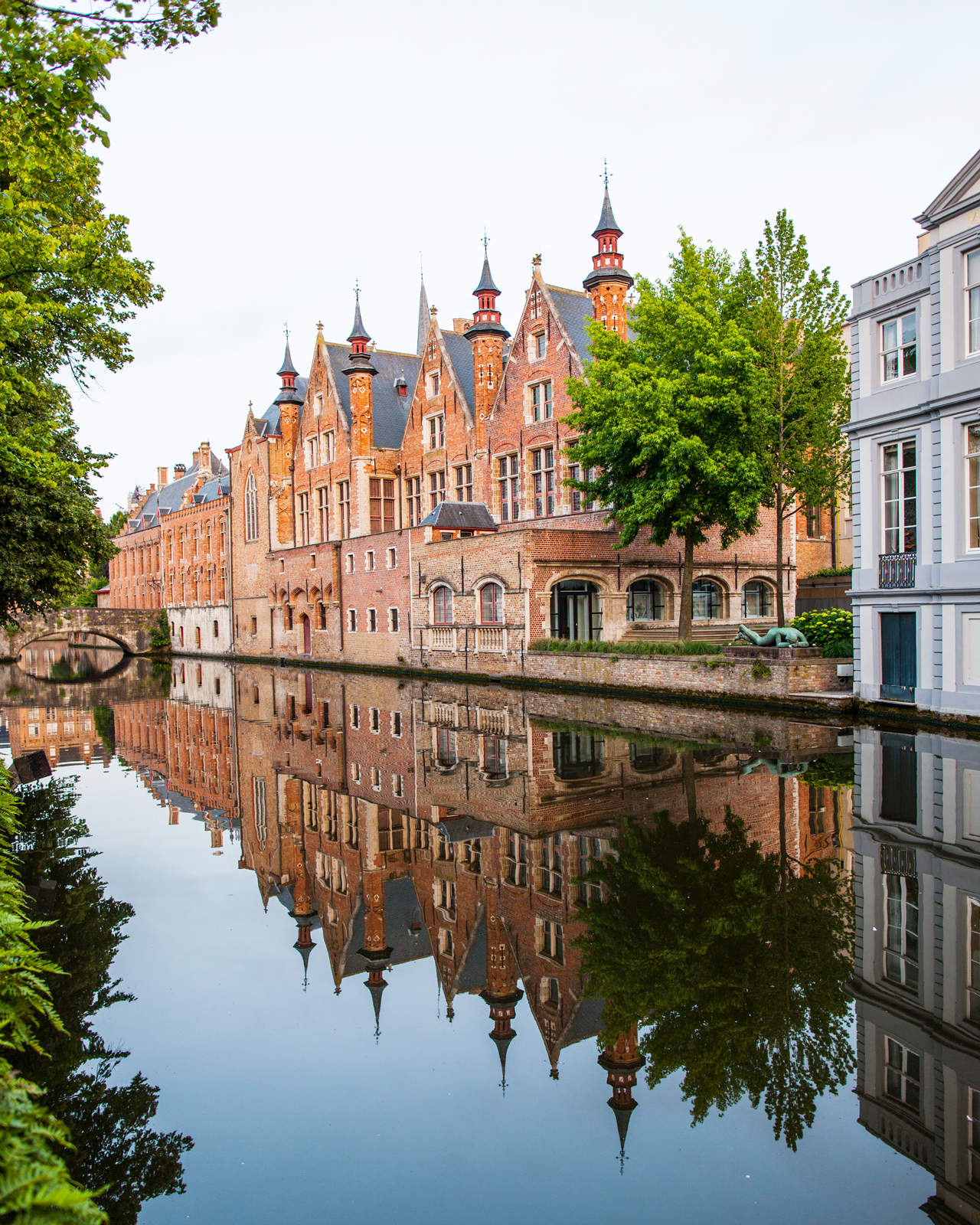 Charming canals encircle the Belgian town of Bruges