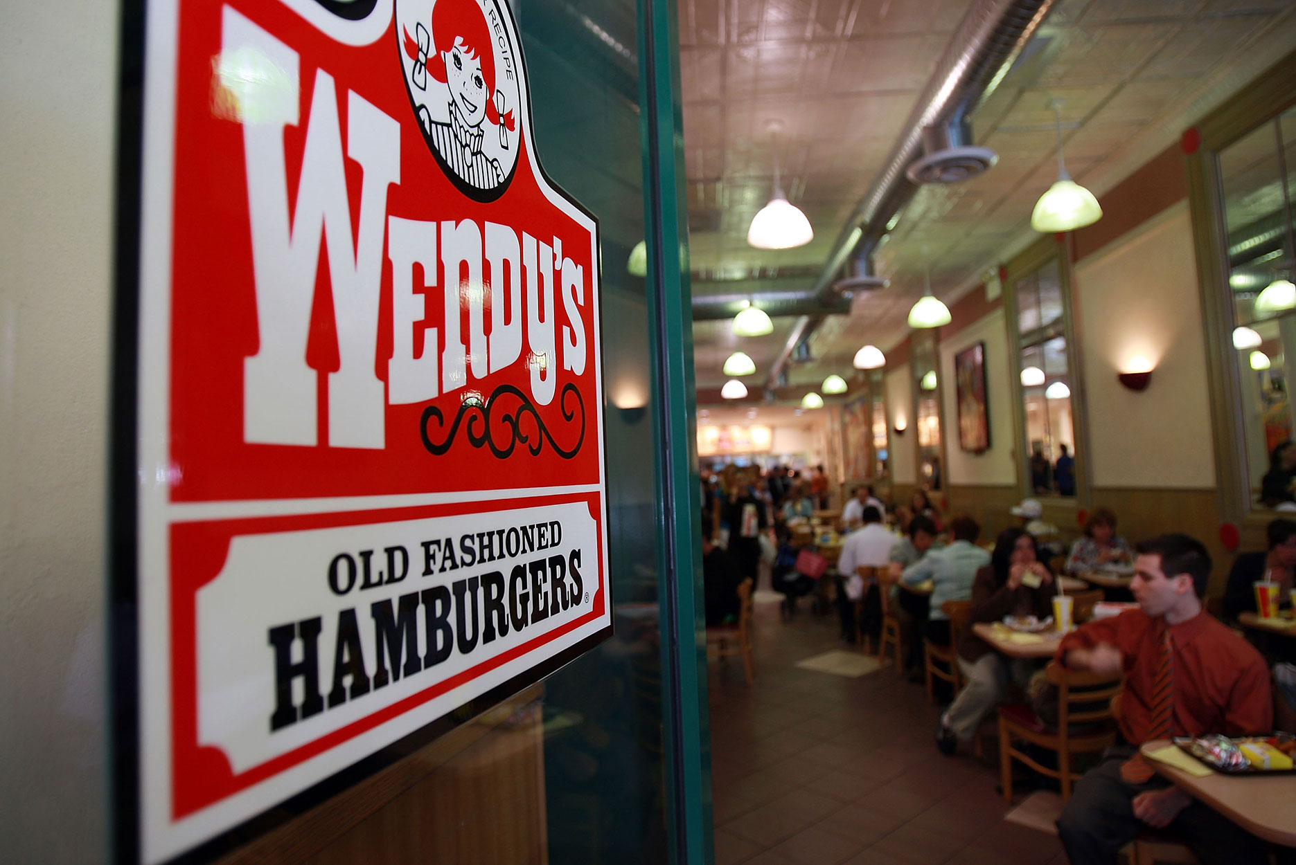 A Wendy's restaurant in New York City