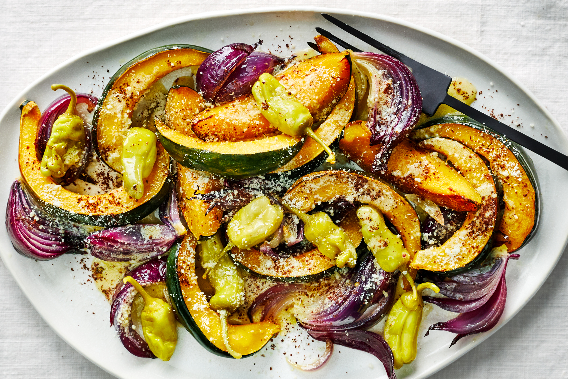Roasted Squash Salad with Sumac and Italian Dressing