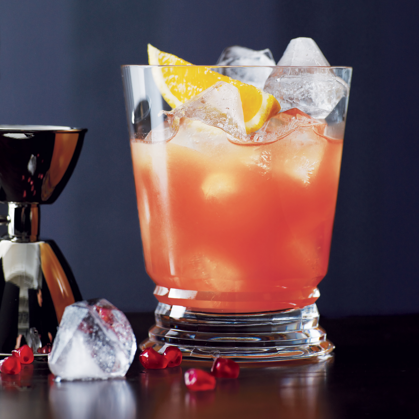 This pre-dinner drink is an orange-infused variation on the Commodore No. 2 (bourbon, crème de cacao, lemon juice, and grenadine) from the Old Waldorf-Astoria Bar Book.