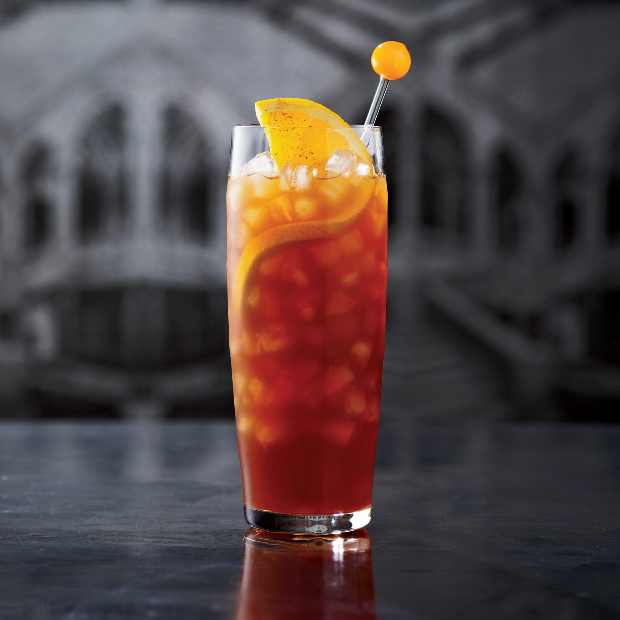 This citrusy, tiki-style punch is from mixologist Joaquín Simó. It features orange-spiced Ramazzotti Amaro (a bittersweet herbal Italian digestif) and homemade orange cordial.