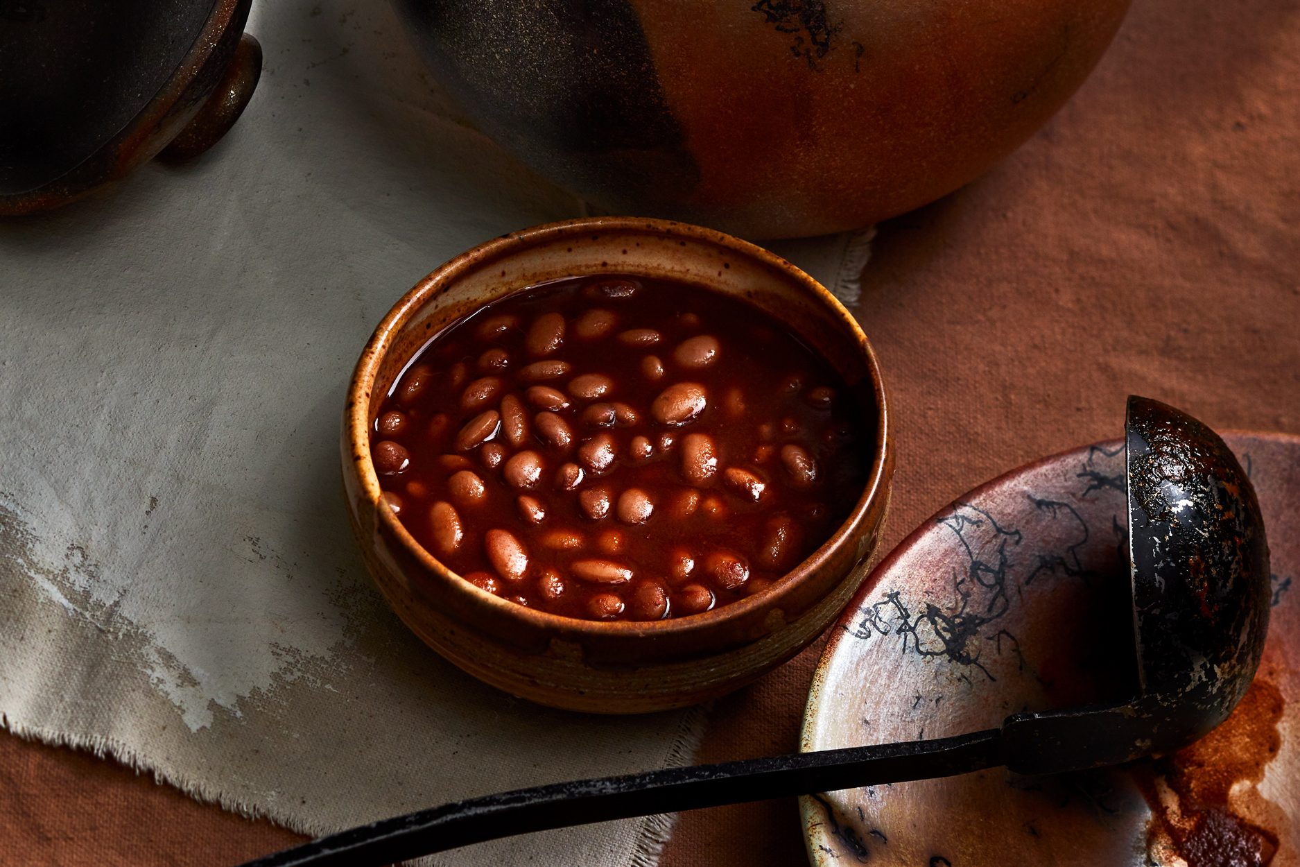 Clay-Pot Red Chile Beans