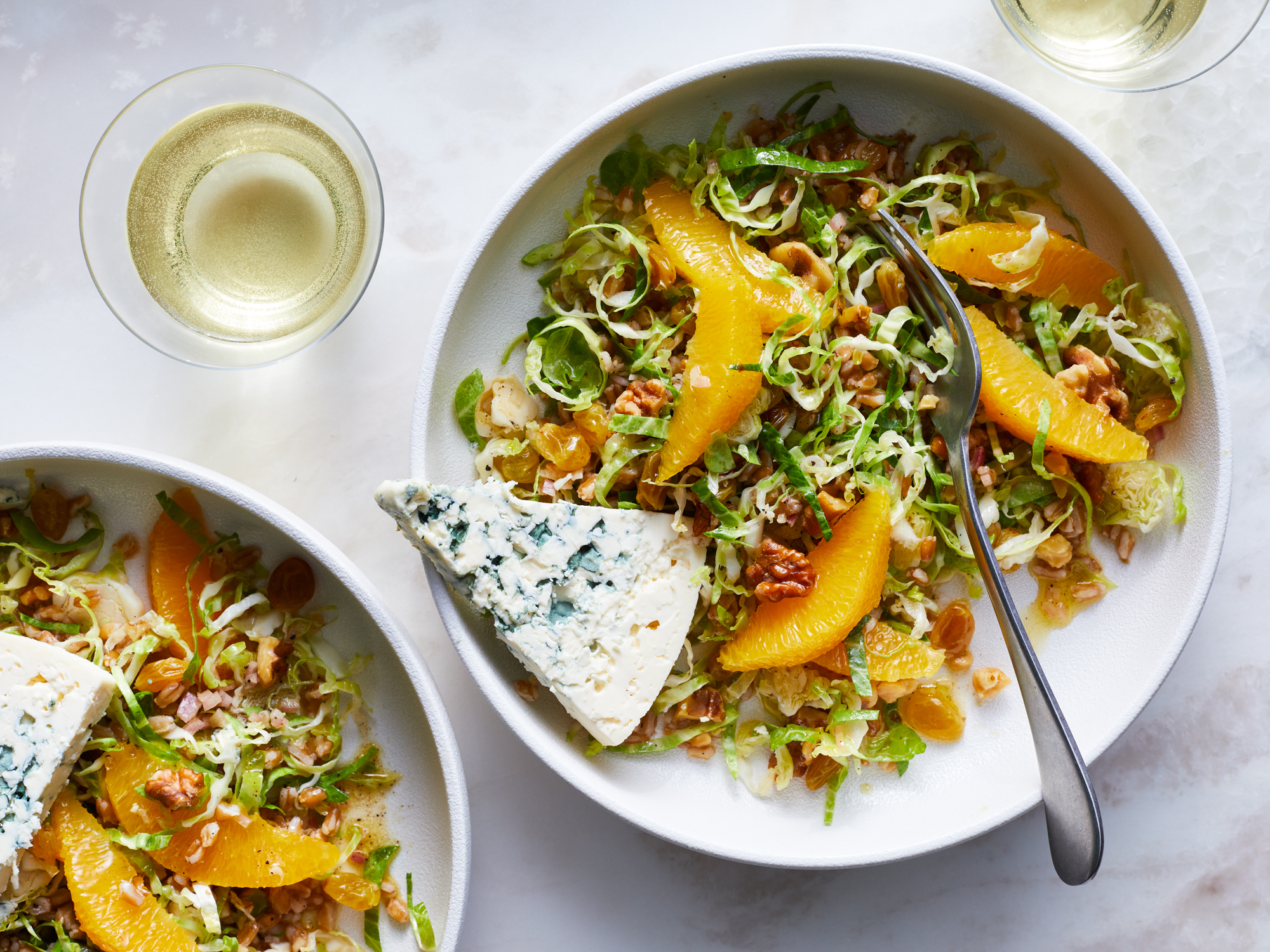 Restoration Salad with Farro, Orange, and Blue Cheese