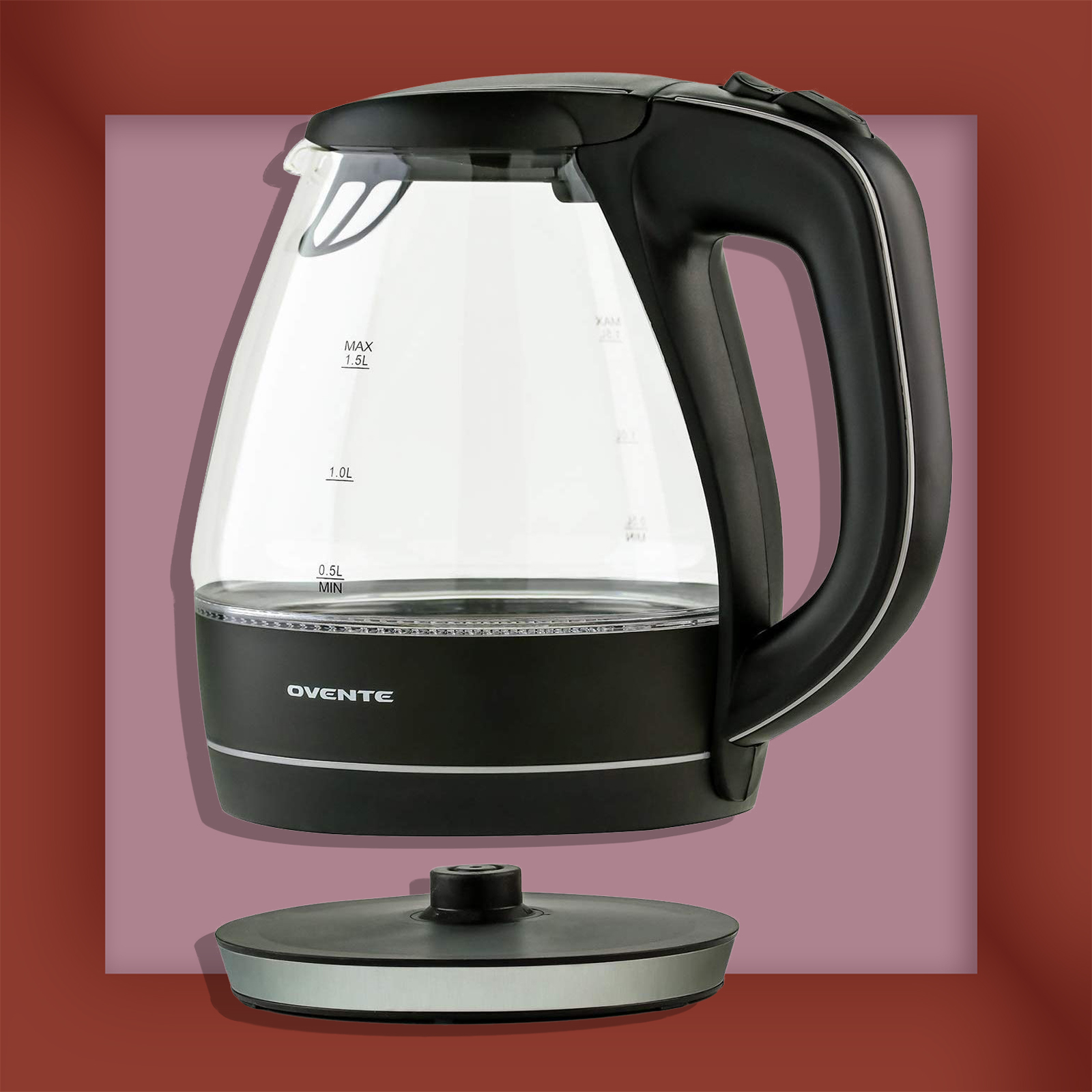 Ovente Electric Glass Kettle