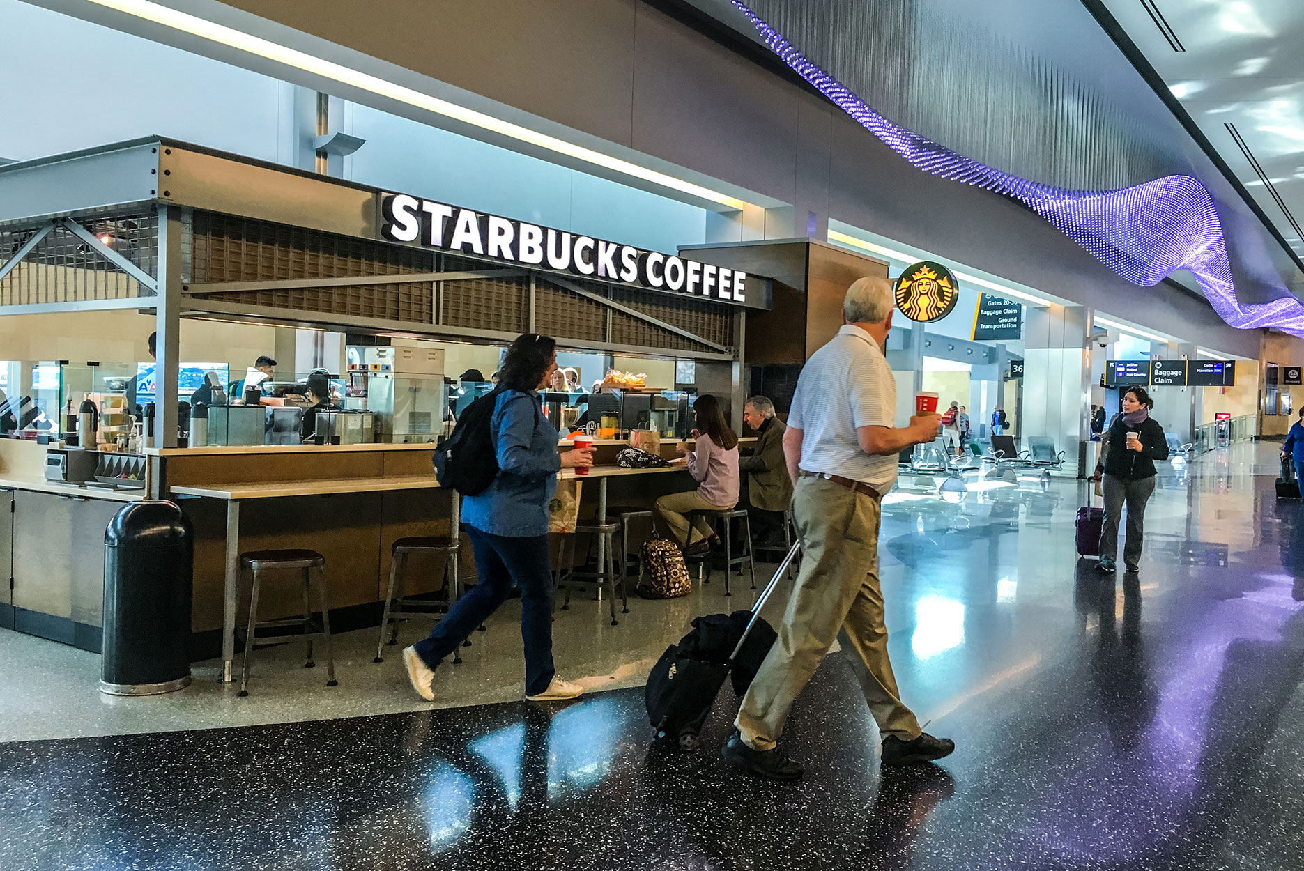 an airport starbucks location in San Diego