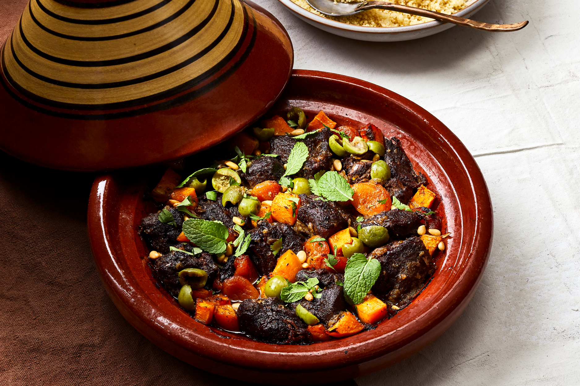 Clay Pot Lamb and Butternut Squash Tagine Recipe