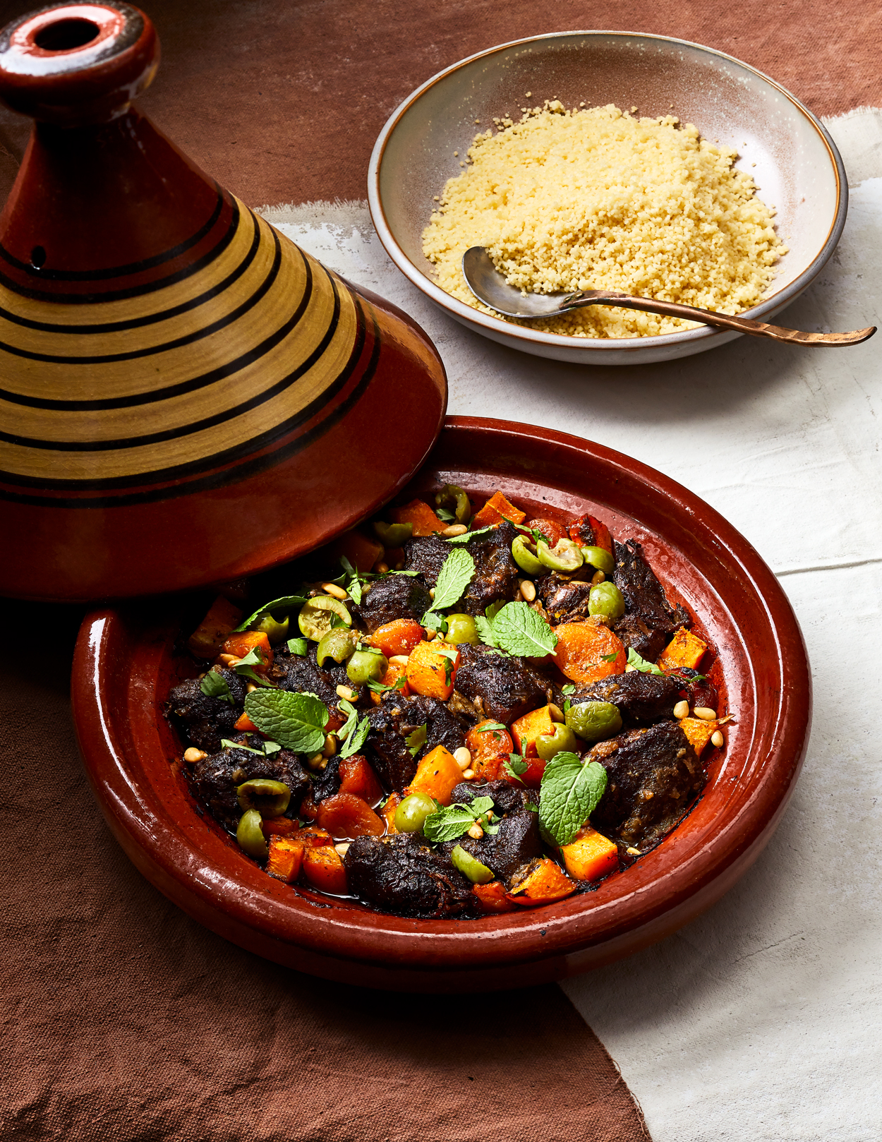 Lamb and Butternut Squash Tagine with Apricots Recipe