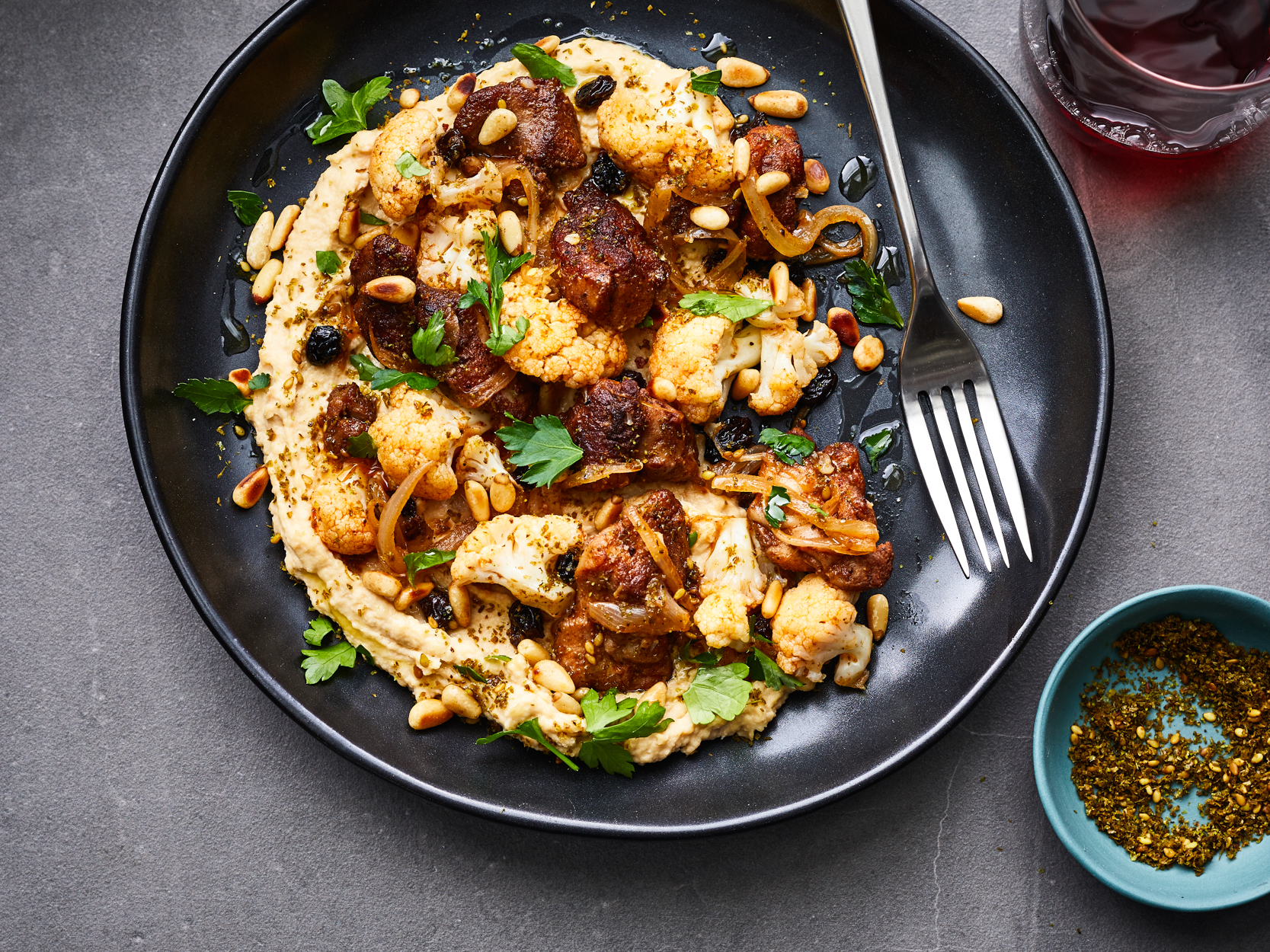 Dinner Hummus with Chicken and Cauliflower Recipe