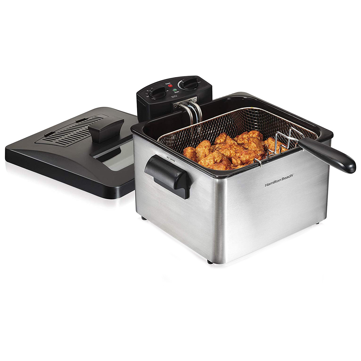 Hamilton Beach Triple Basket Electric Deep Fryer