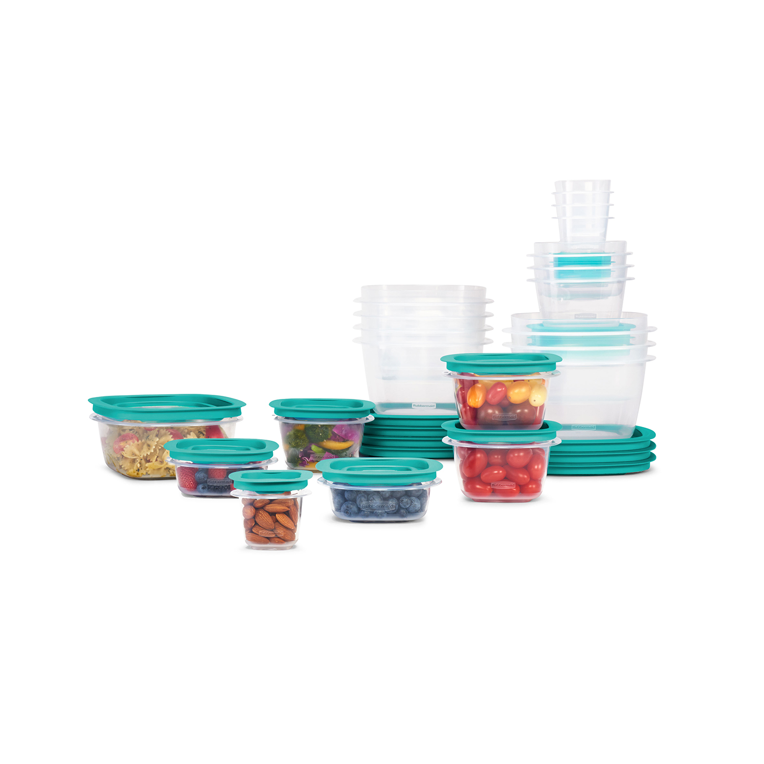 Prep Simply Store Glass Rectangular and Round Food Container Set