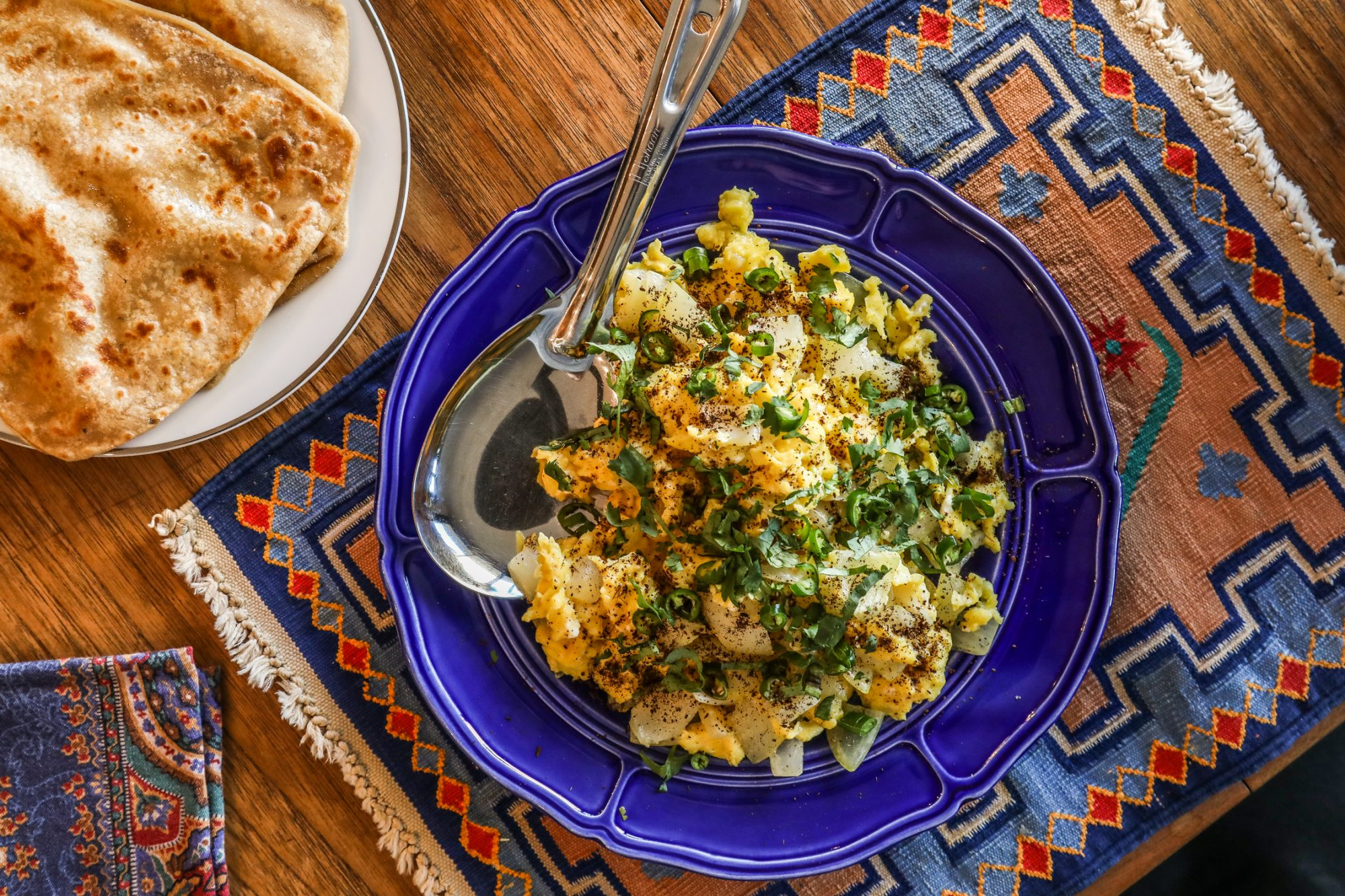 Julie Sahni Ande Ki Bhurji | Scrambled Eggs with Cumin and Fragrant Herbs Recipe