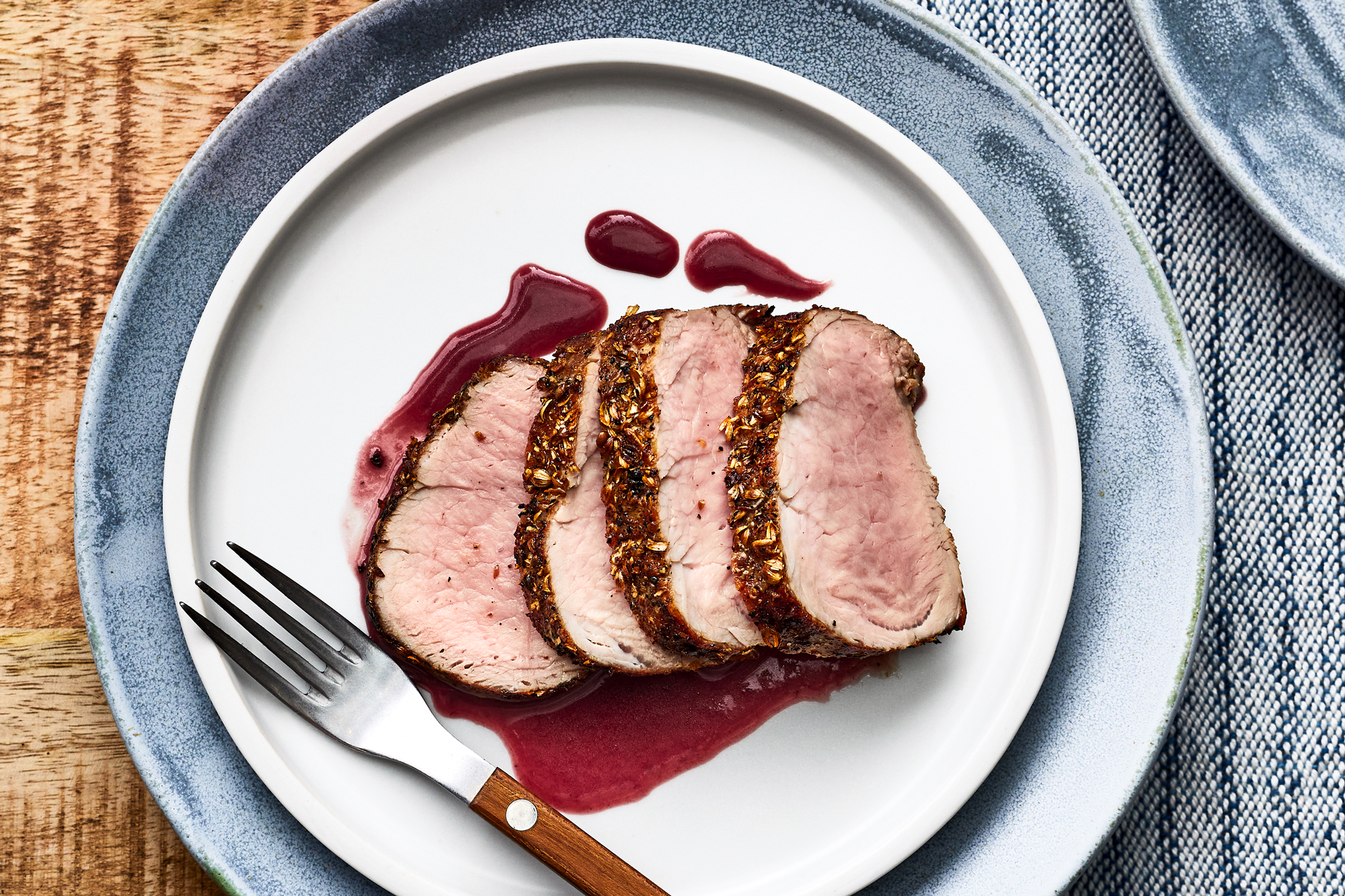 Pork Tenderloin with Roasted Strawberry Merlot Sauce Recipe