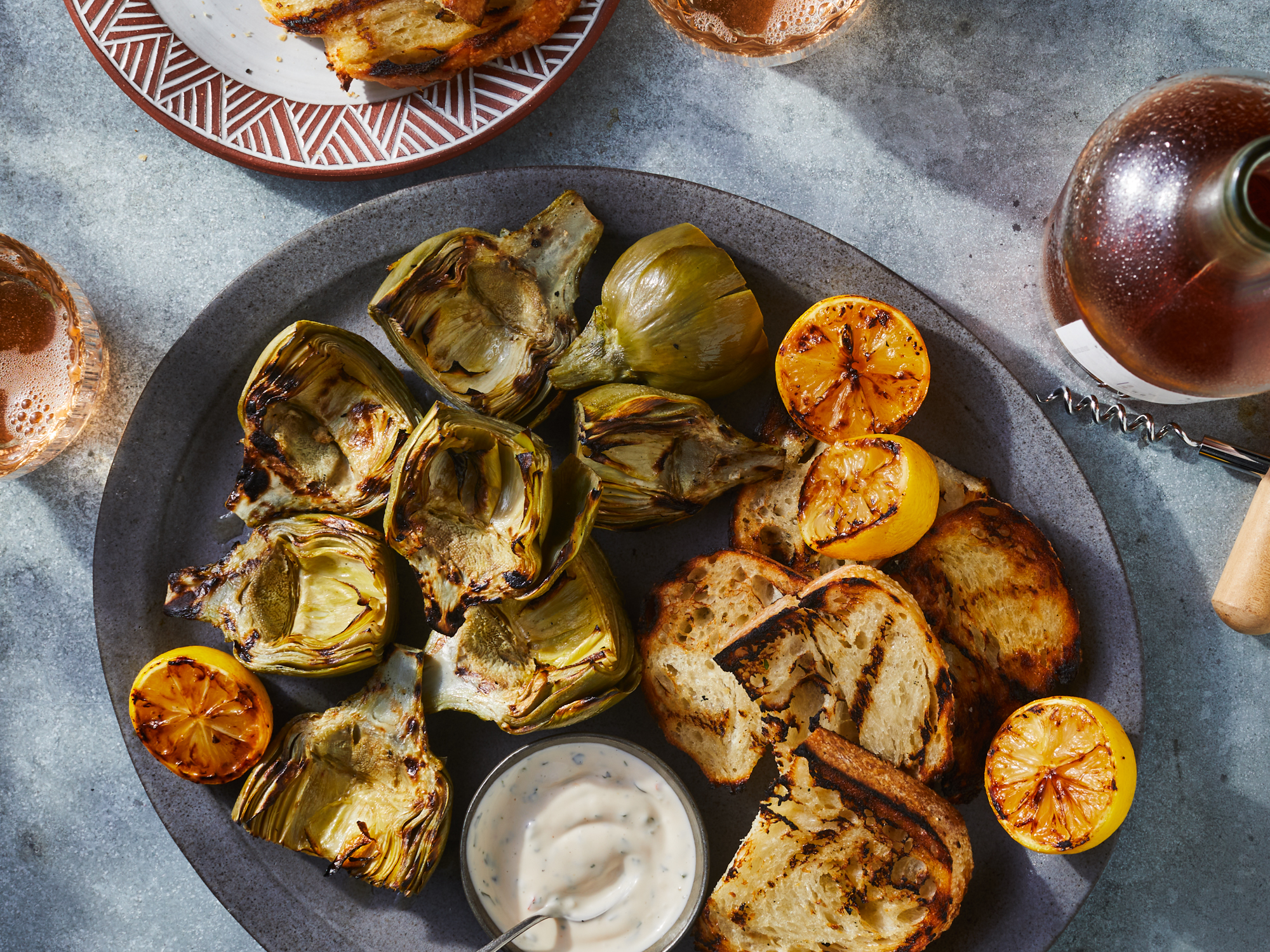 Grilled Artichokes with Herby Lemon Aioli
