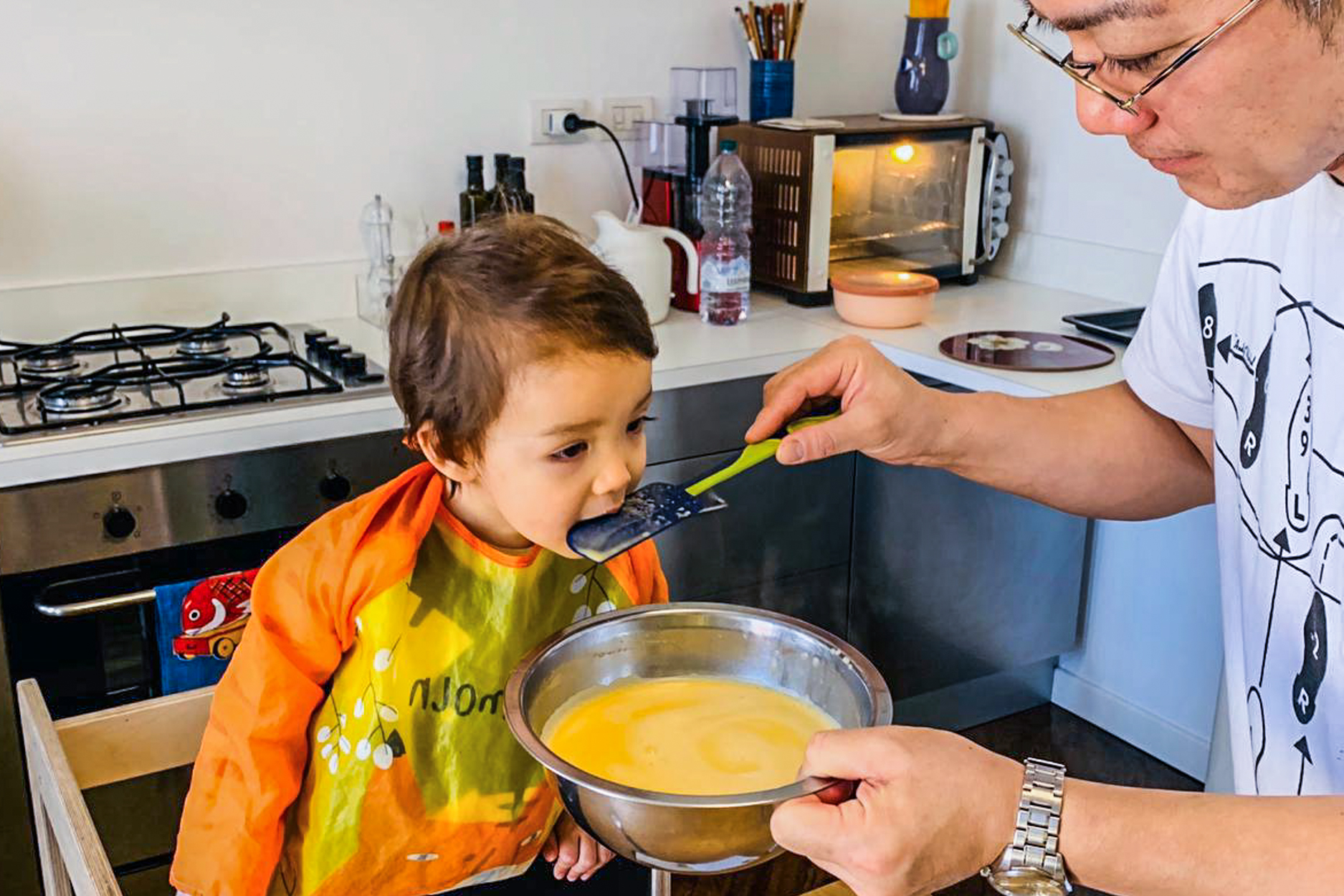 Homebound Chefs Cook With Their Kids