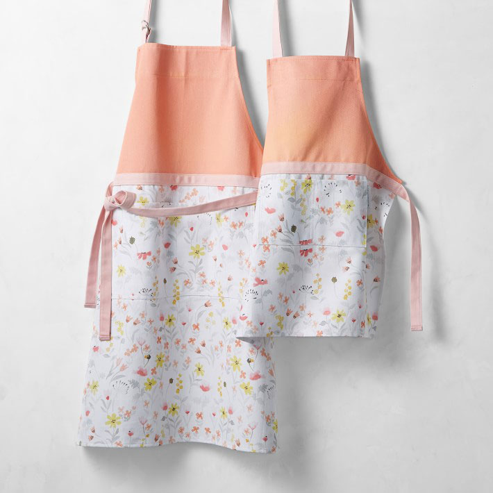 matching floral aprons