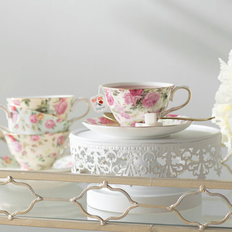 floral cup and saucer set