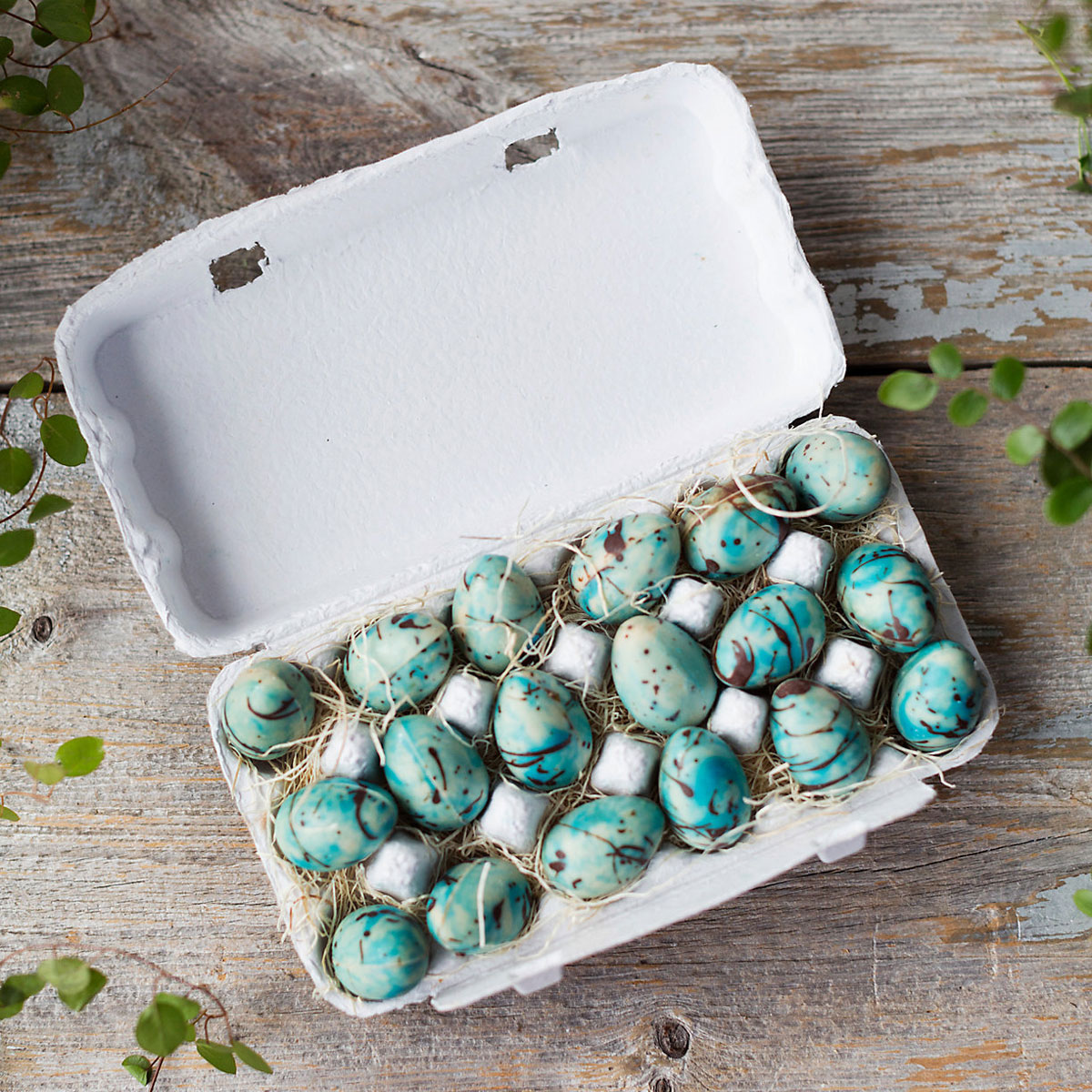 robin's eggs chocolate Easter eggs