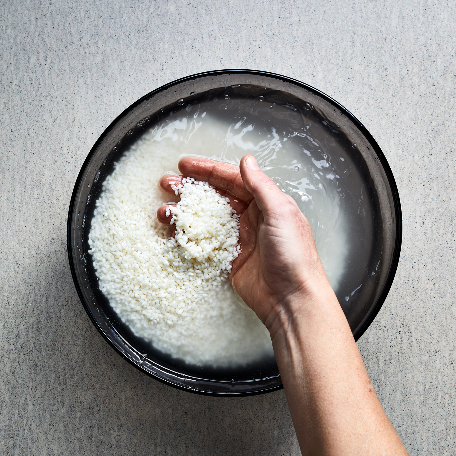 How To Make California Bowl | Step 1 Rinse the Rice