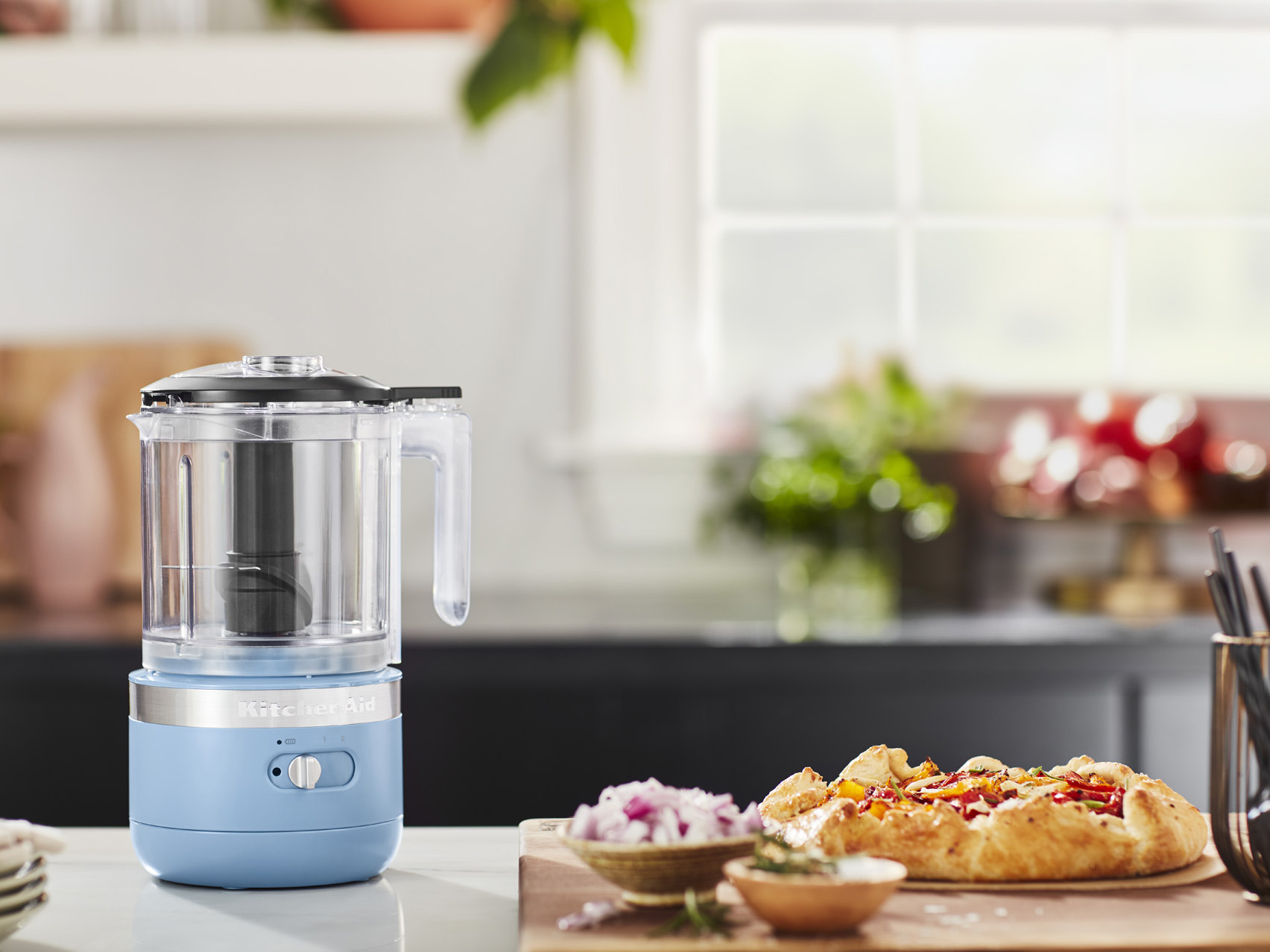 kitchenaid cordless collection chopper on counter