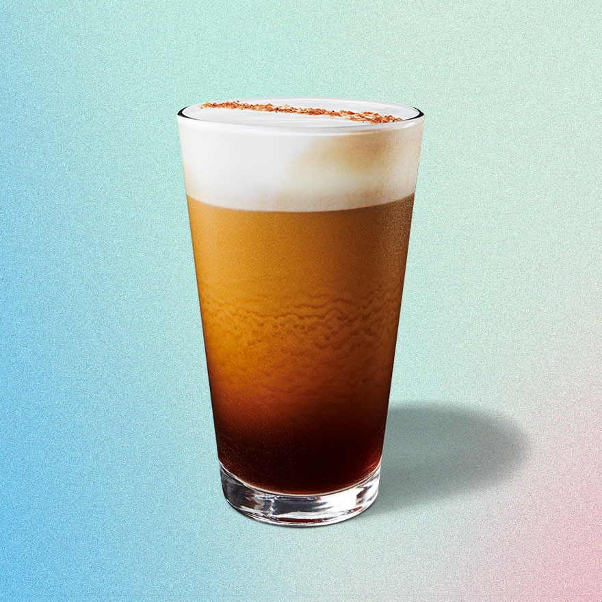 The salted honey cold foam cold brew