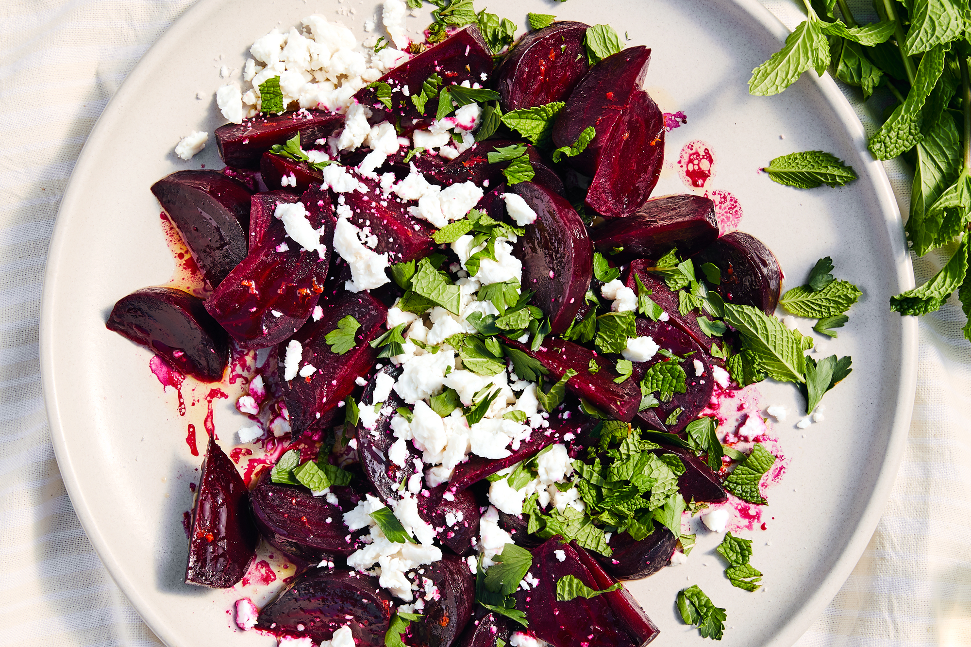 Roasted Beets with Garden Herbs and Goat Feta Recipe