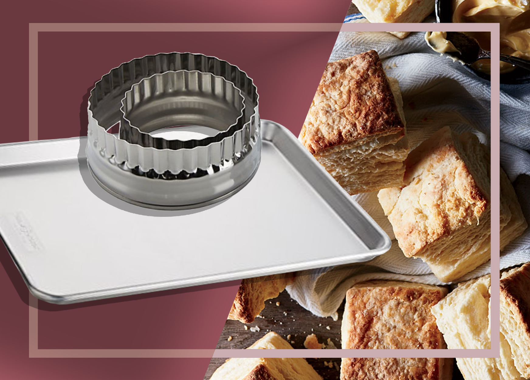 Crate and Barrel Sheet Pans and Biscuit Cutters