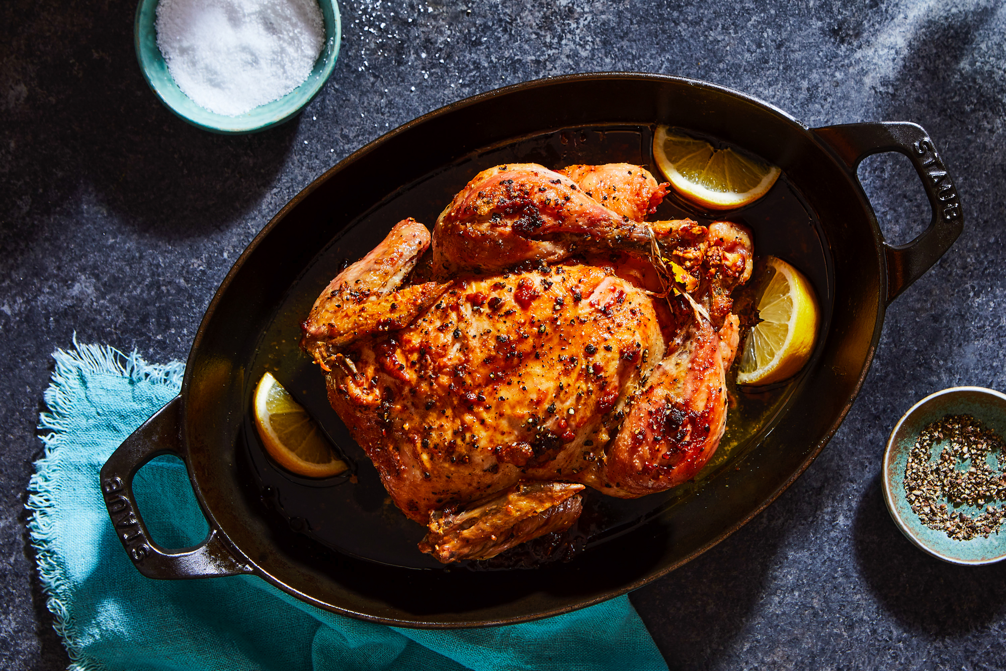 Marcella Hazan Roast Chicken with Lemons Recipe