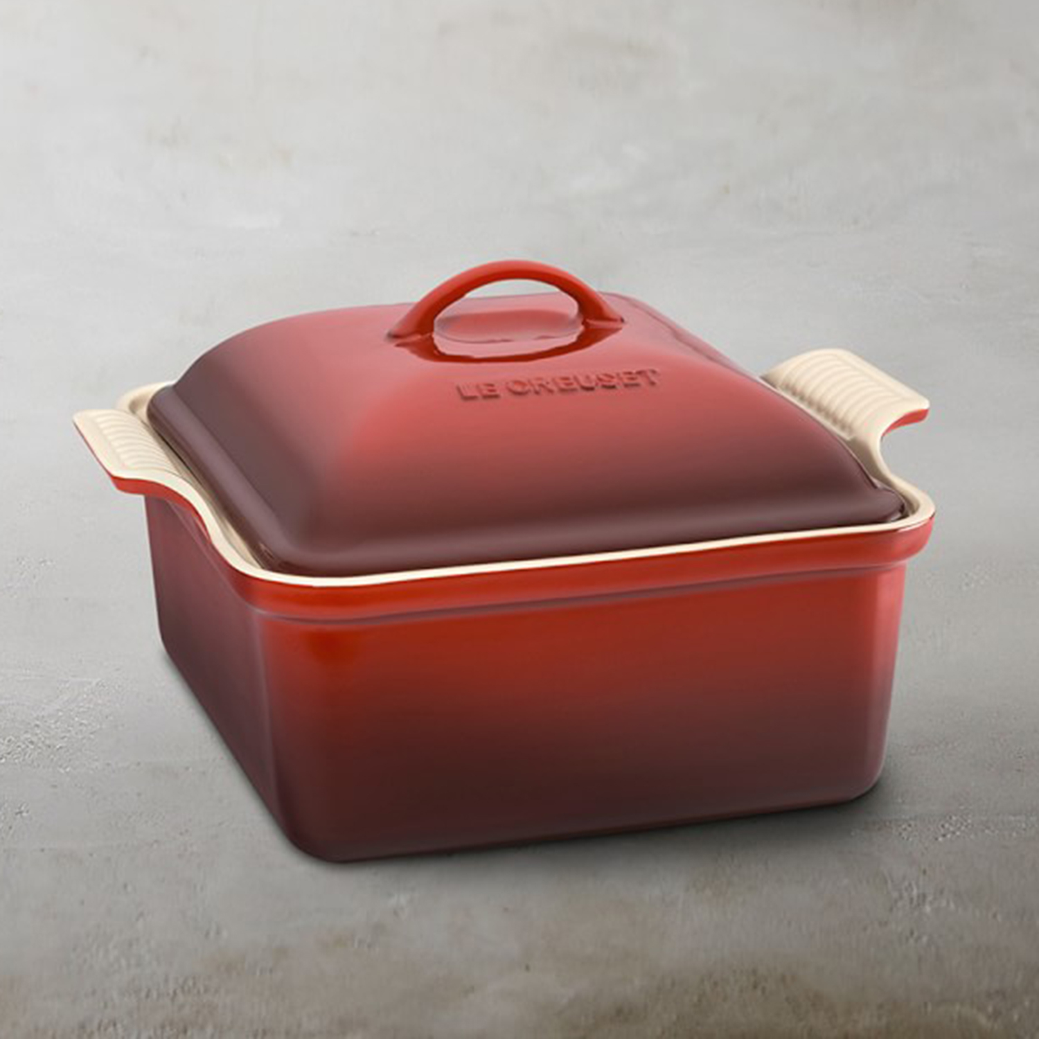 Le Creuset Stoneware Heritage Covered Square Baking Pan