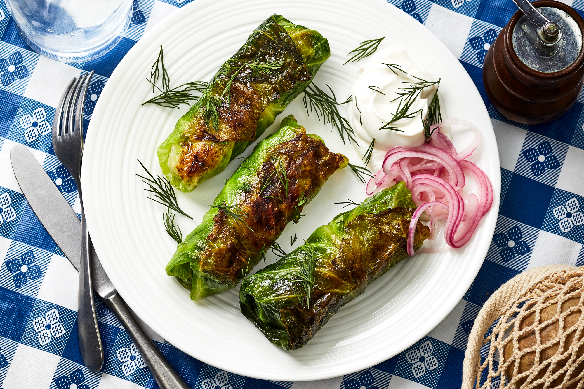 Potato and Smoked Fish Cabbage Rolls Recipe