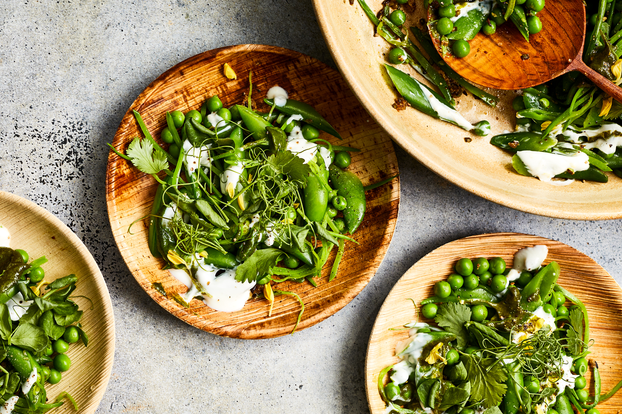 Spring Pea Chaat with Lemon Raita Recipe