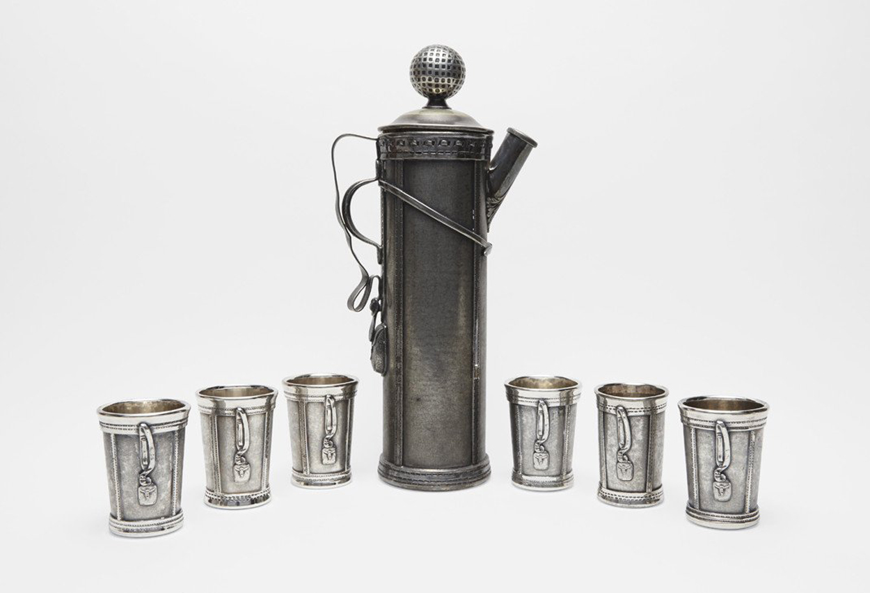 Sotheby's Prohibition Bar Ware Auction | Golf Themed Cocktail Set