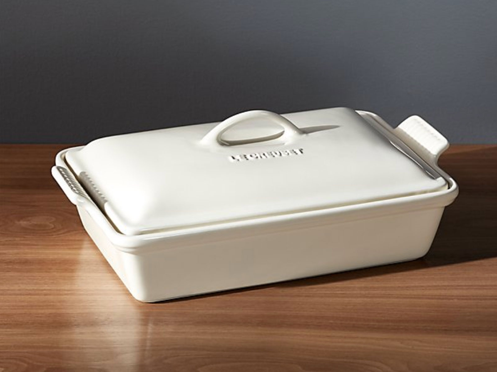 Le Creuset Heritage Covered Rectangle Cream Baking Dish