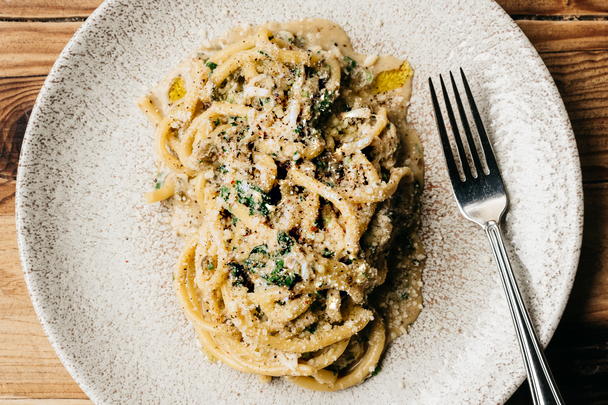 Summer Crab Carbonara with Lemons and Capers Recipe