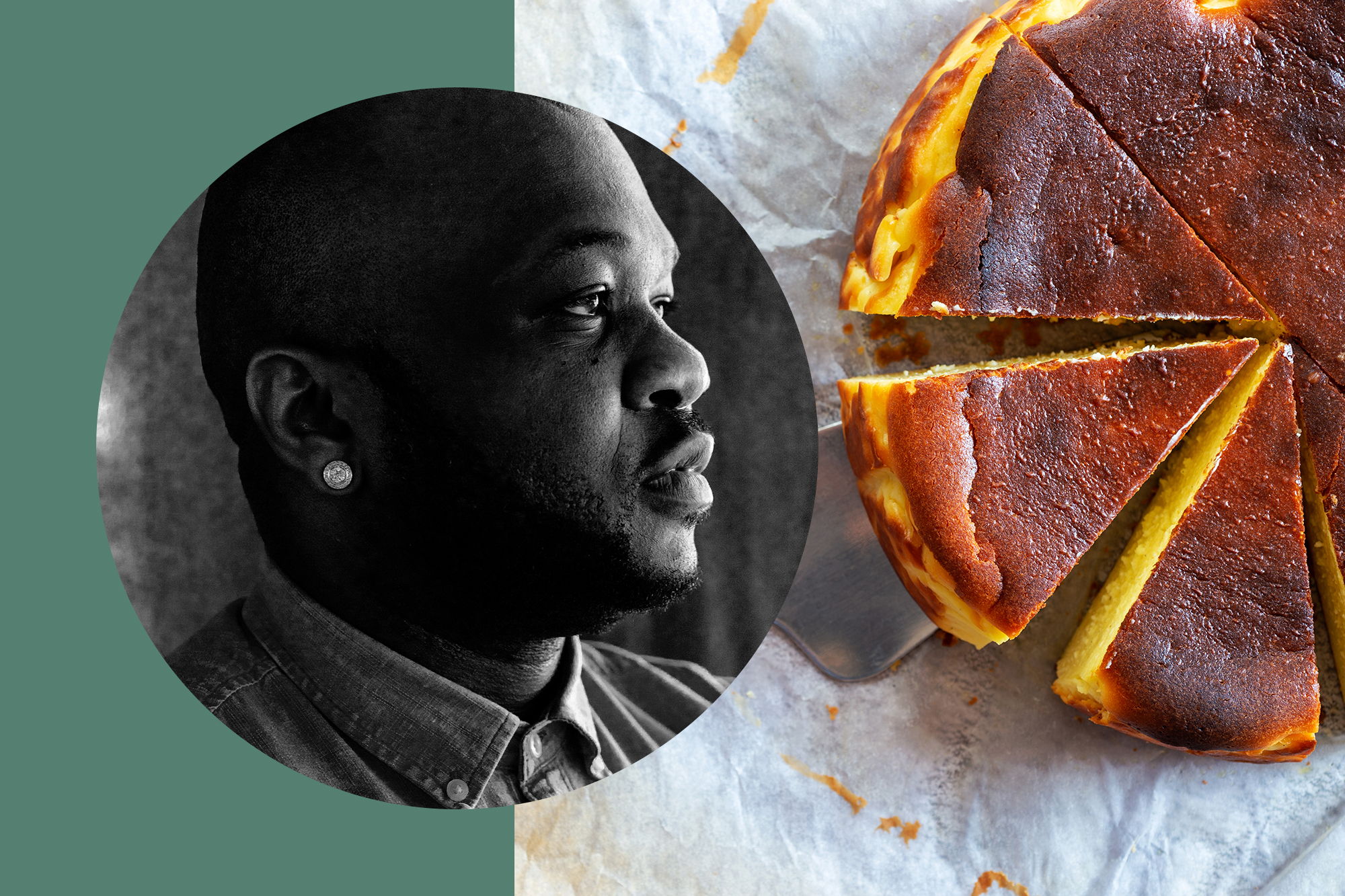 Best New Chef Tavel Bristol-Joseph | Basque Cheesecake