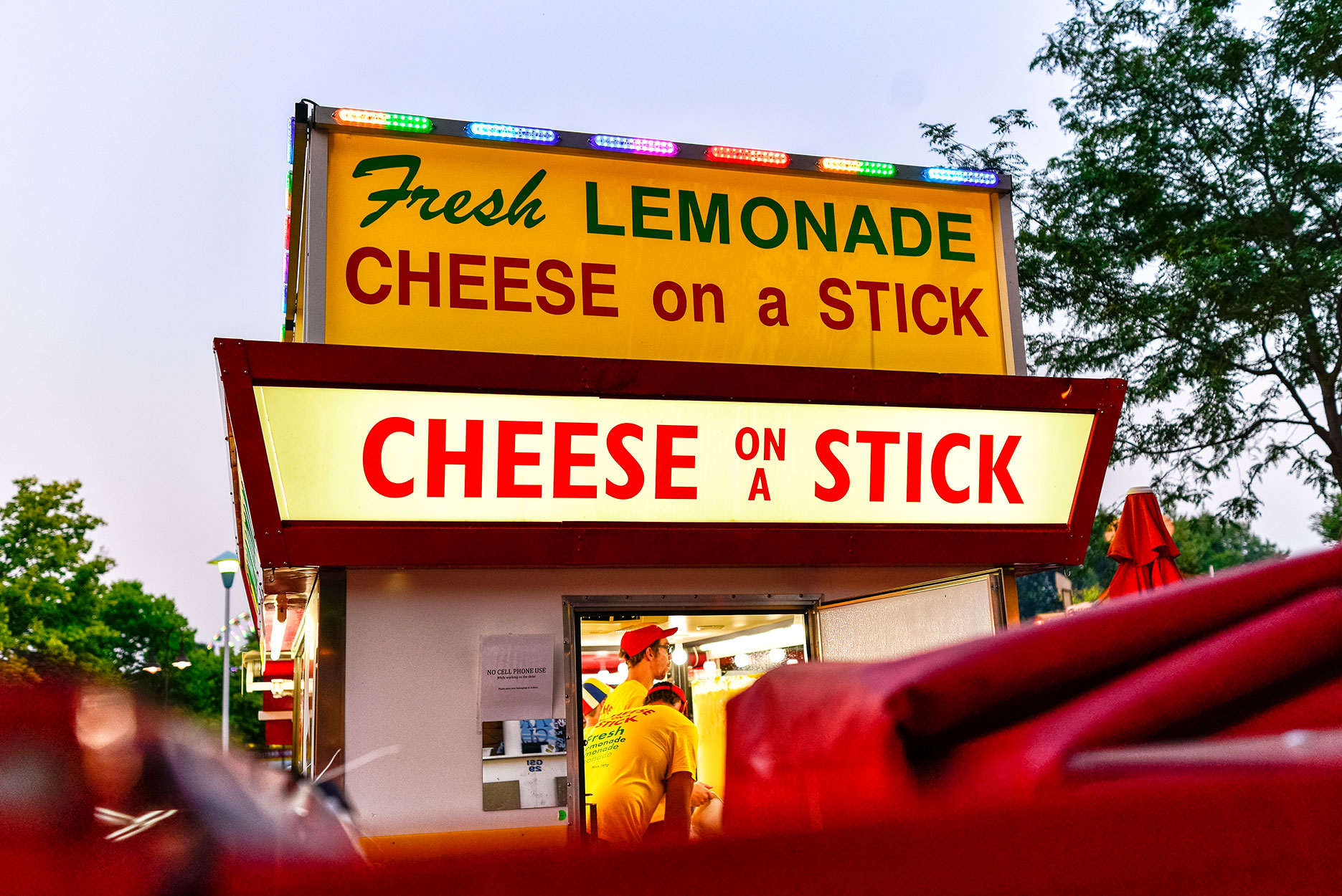 Minnesota State Fair - Cheese on a Stick Stand
