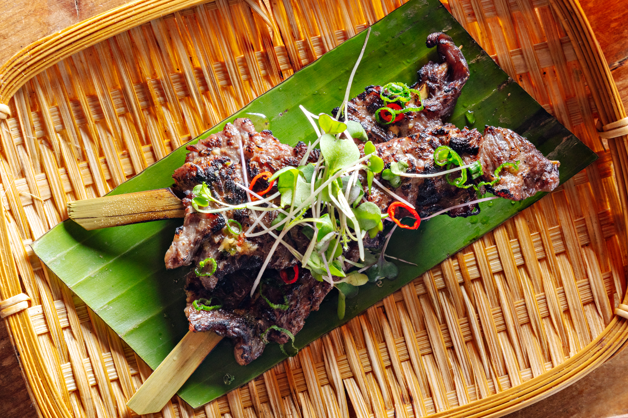 Lemongrass Skirt Steak Skewers Recipe