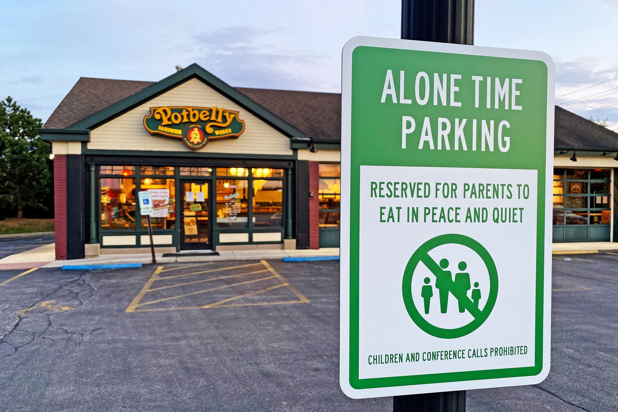 Restaurant Parking Lots Become Alone Time Space for Parents