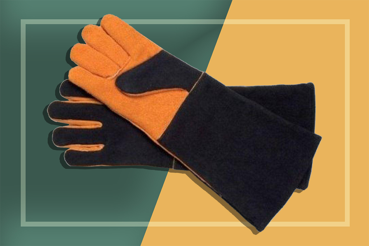 Expert Grilling Tools | Extra Long Suede Gloves