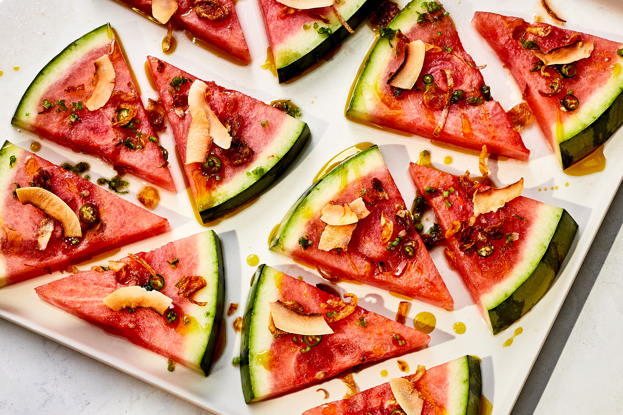 Chile Coconut Watermelon Crudo Recipe