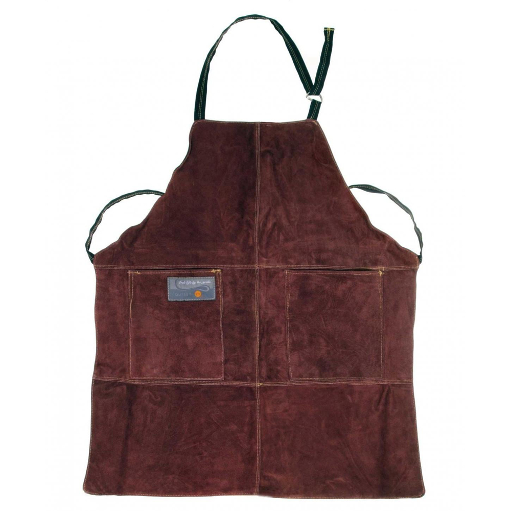 leather grilling apron