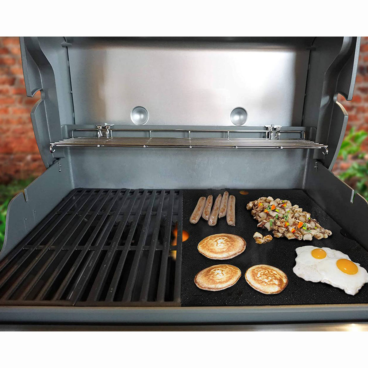 This grill insert comes in every size so you can turn half of your standard grill into a griddle-style surface. The carbon steel is harder than cast iron and resists rust after seasoning.ARTEFLAME Replacement BBQ Grill Cooking Plancha Griddle, $40-$50 at amazon.com