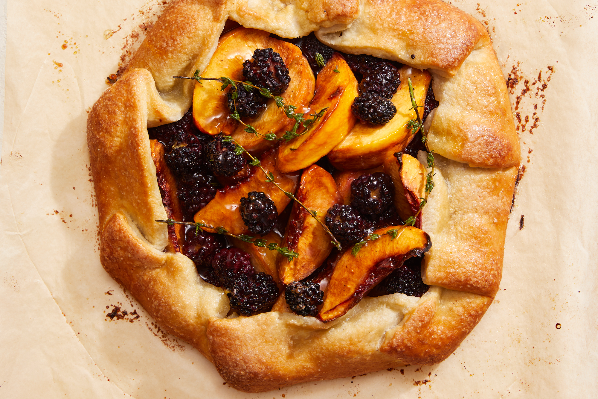 Summer Peach and Blackberry Galette