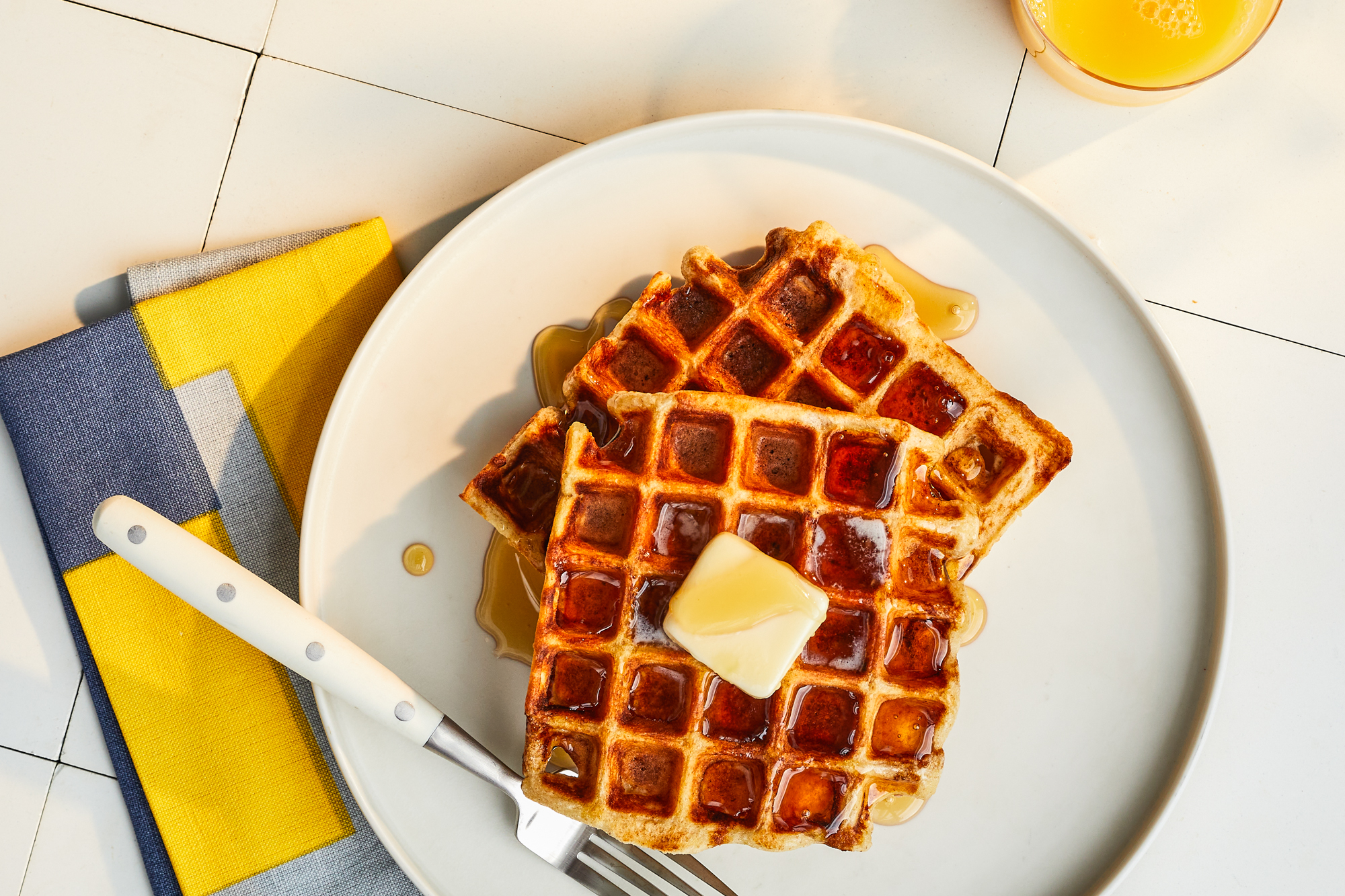 Sourdough Buttermilk Waffles