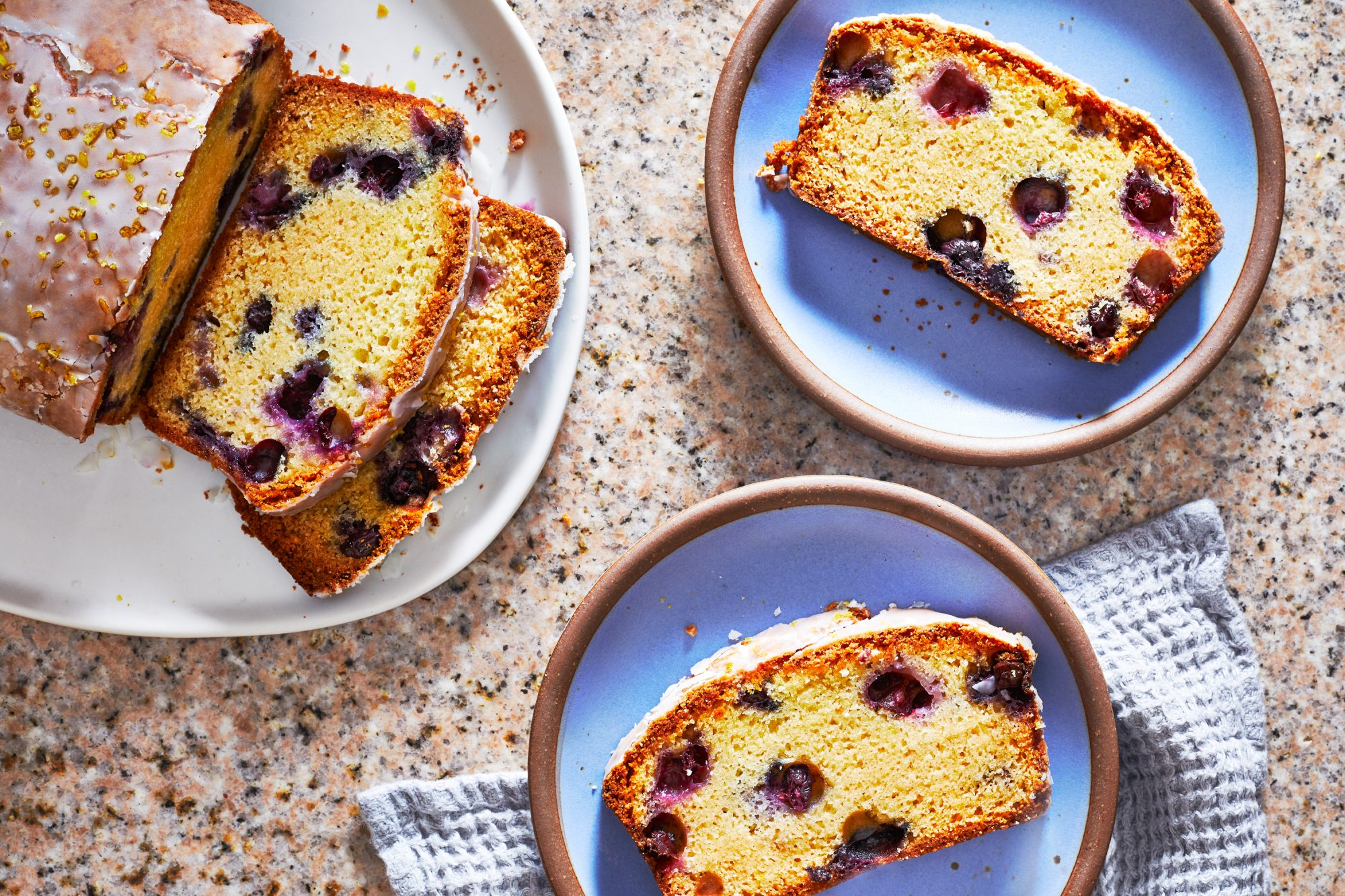 Lemon Blueberry Cake with Lemon-Zest Glaze