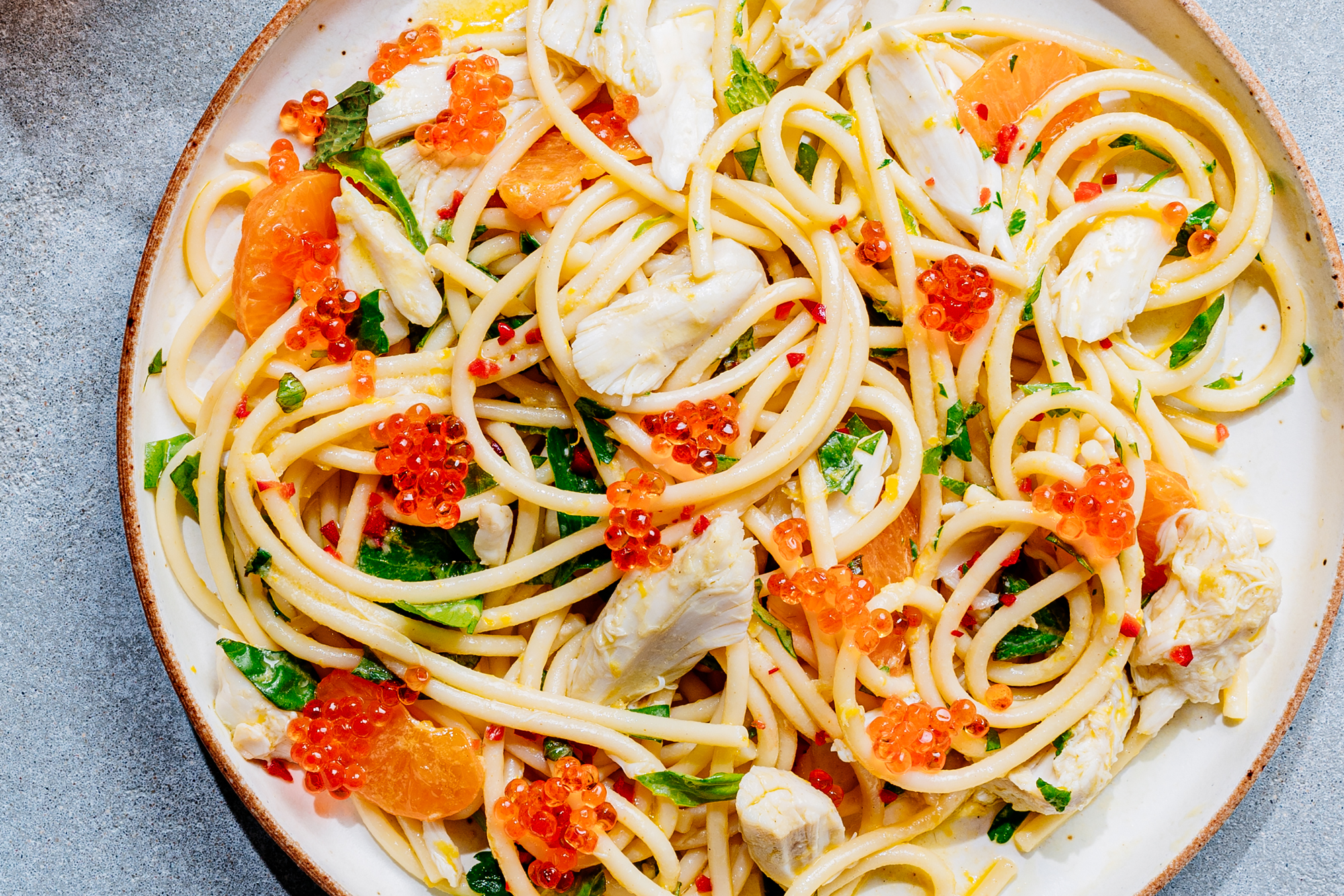 Cold Crab Spaghetti Recipe
