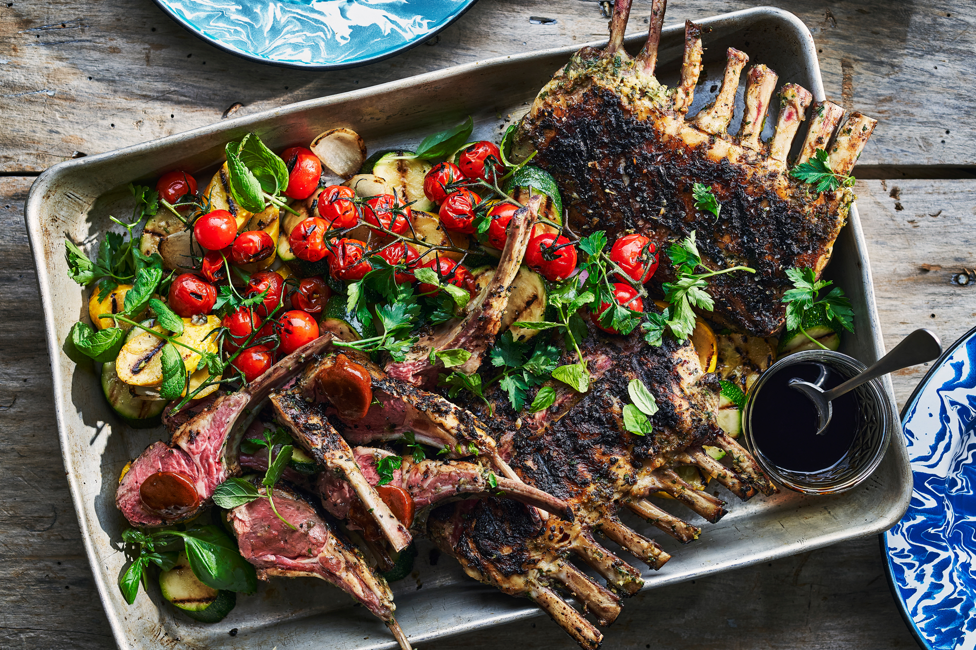 Grilled Rack of Lamb with Demi Glace Butter Recipe