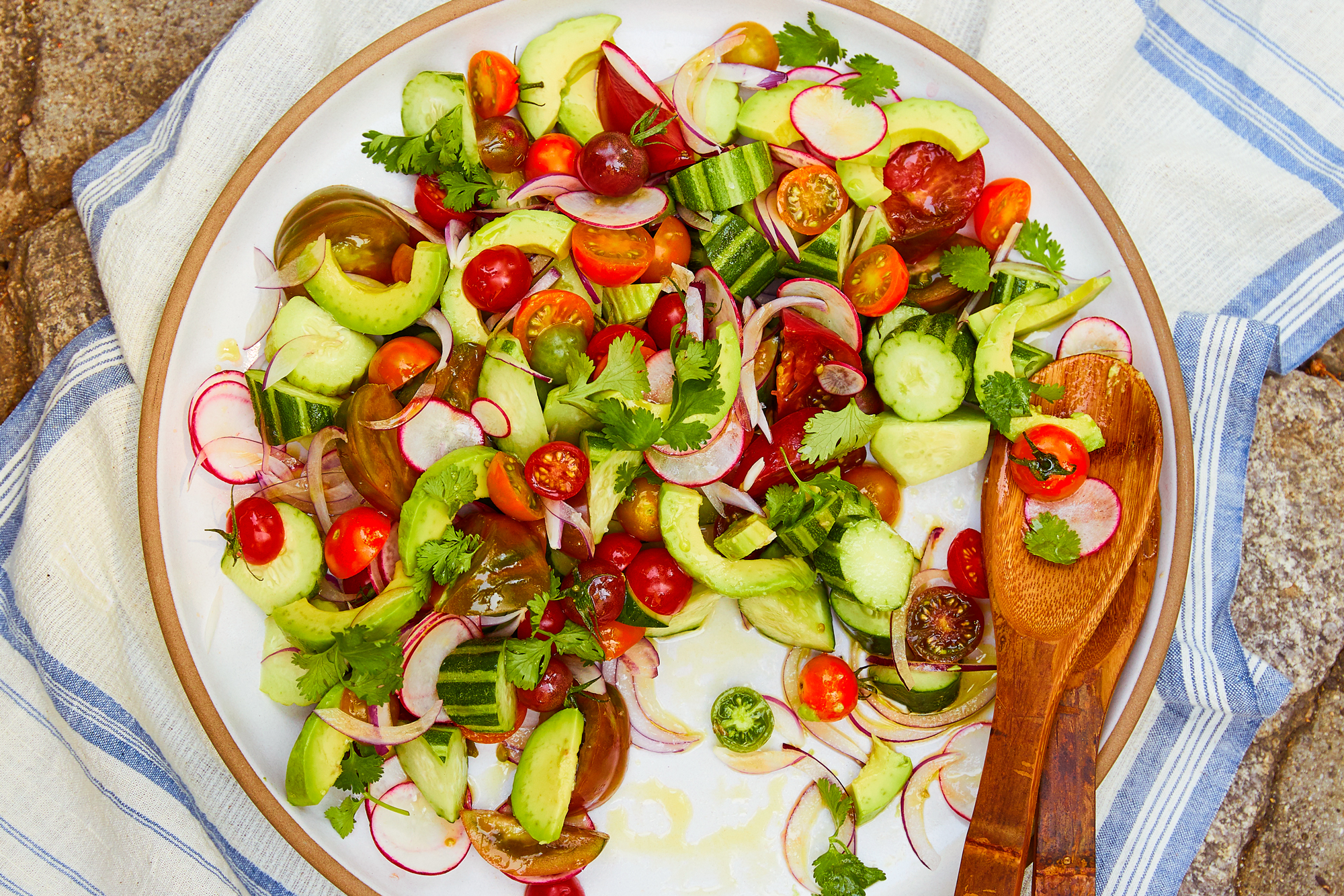 Summer Tomato Salad with Jicama and Avocado Recipe