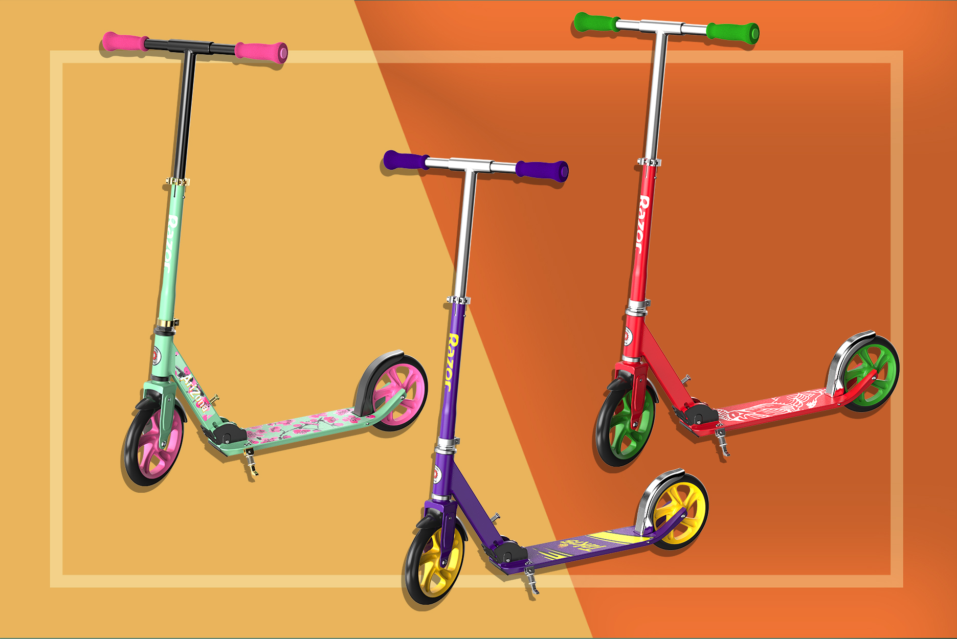 Food-Themed Razor Scooters
