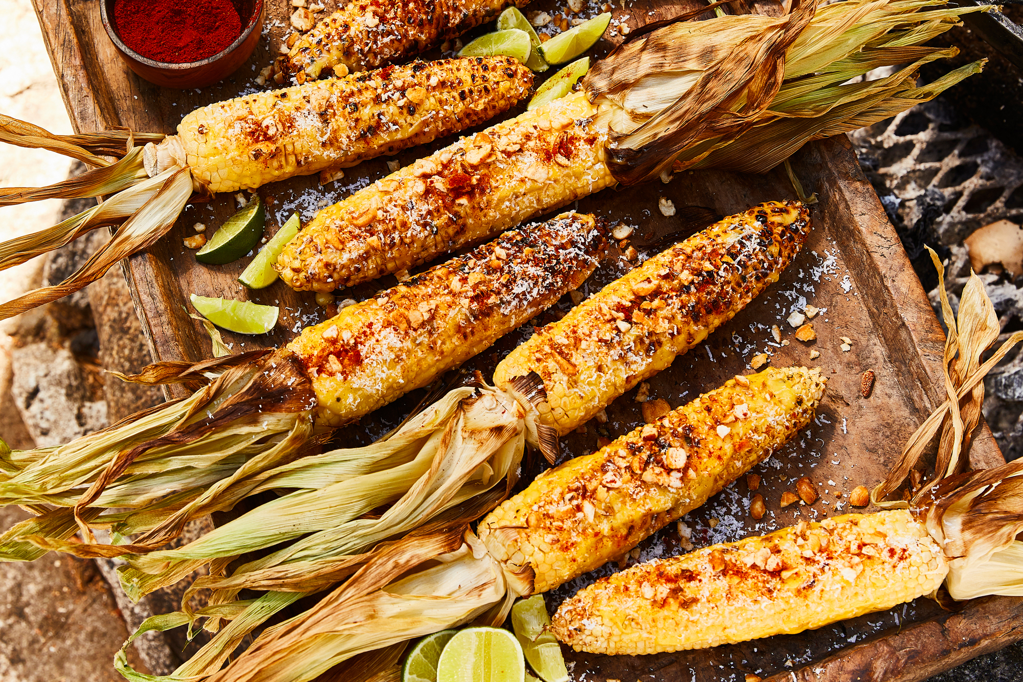 Grilled Corn with Cotija and Quicos Recipe
